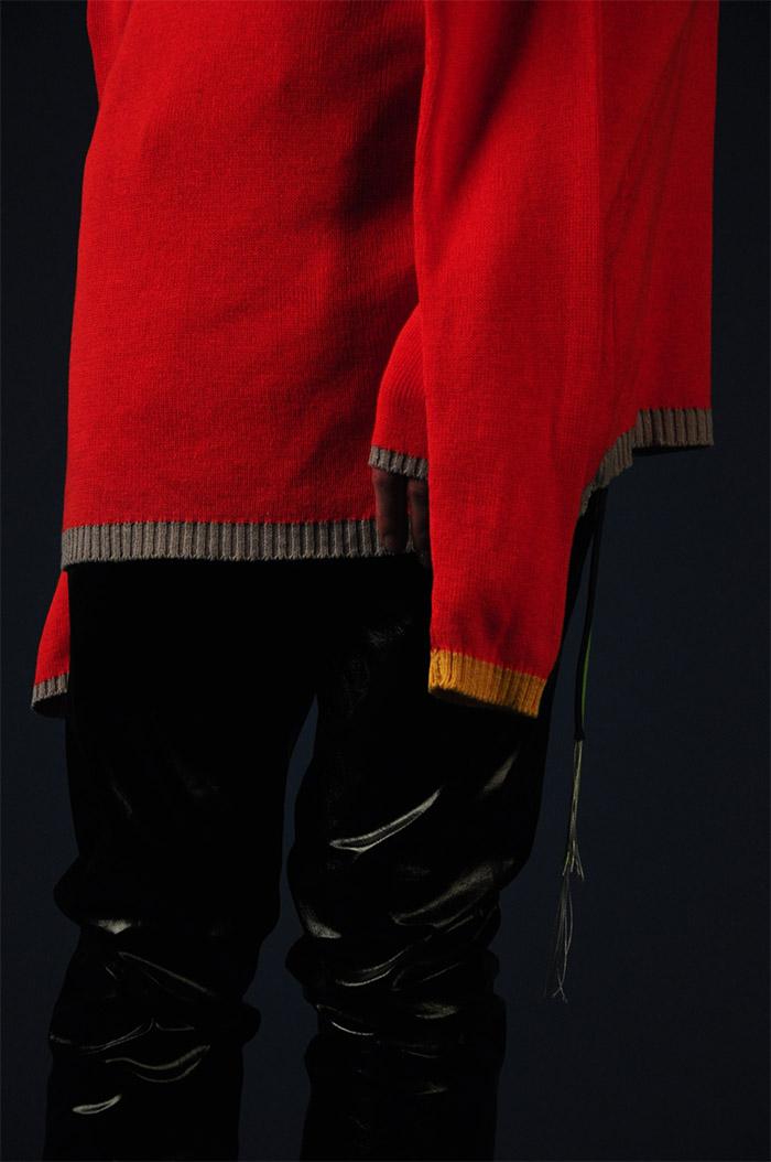 knit jumper VALENTINA KARELLAS, leather pants VINTAGE,