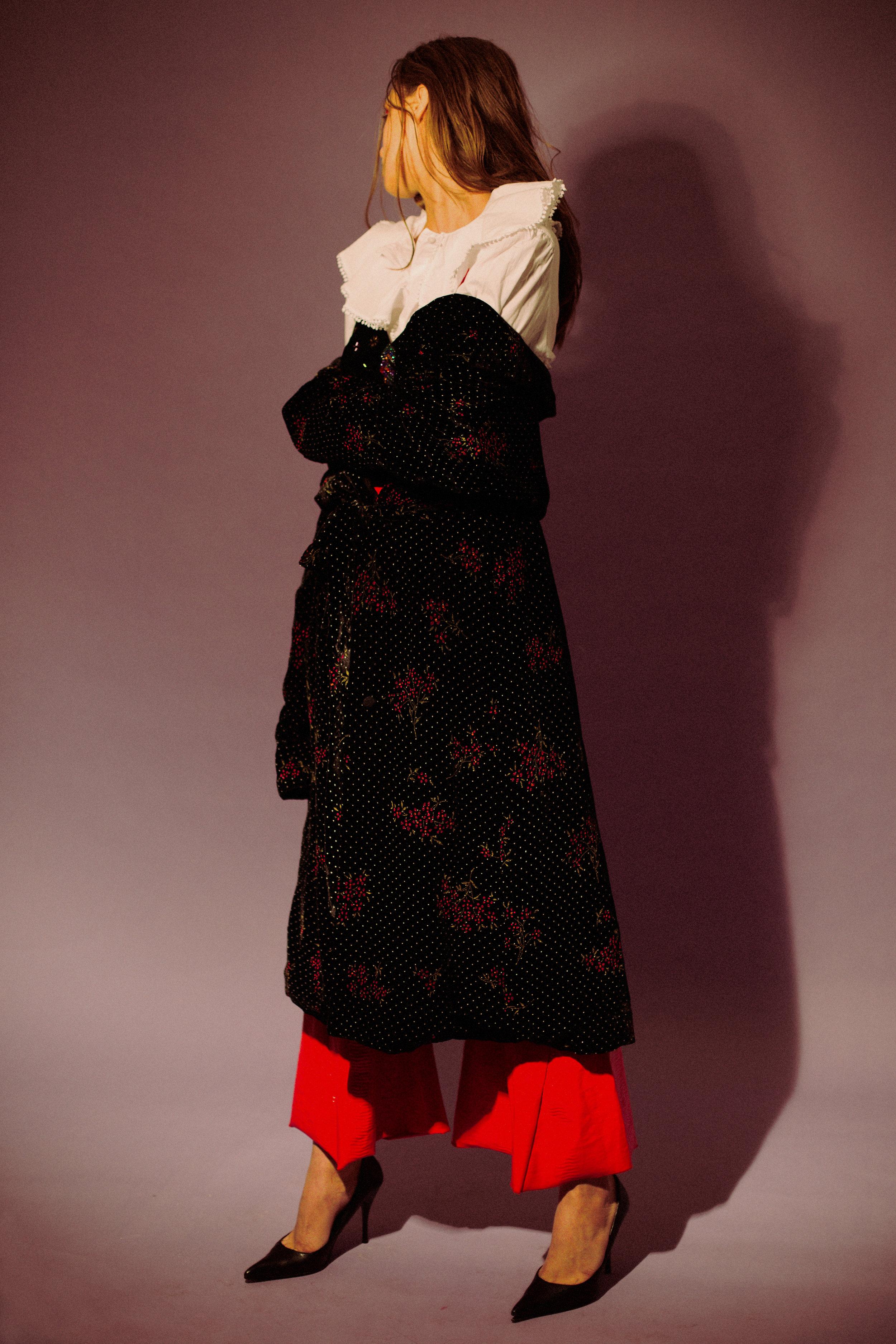 shirt  SISLEY , velvet duster +bodysuit @  HUMANA VINTAGE MILANO