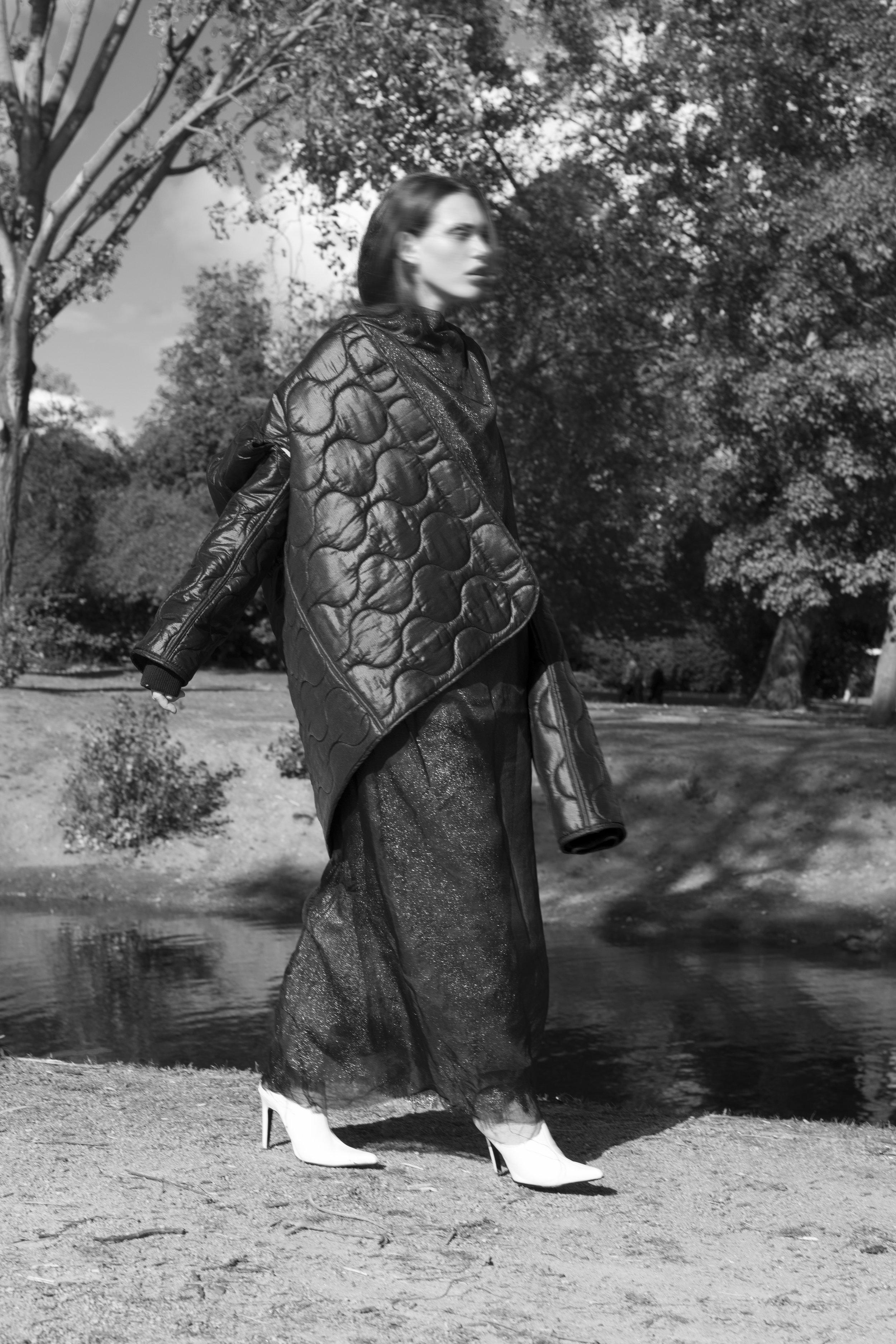 jacket  ASHLEY WILLIAMS , dress  SILJA MANNINEN ,shoes  FAUSTINE STEINMETZ