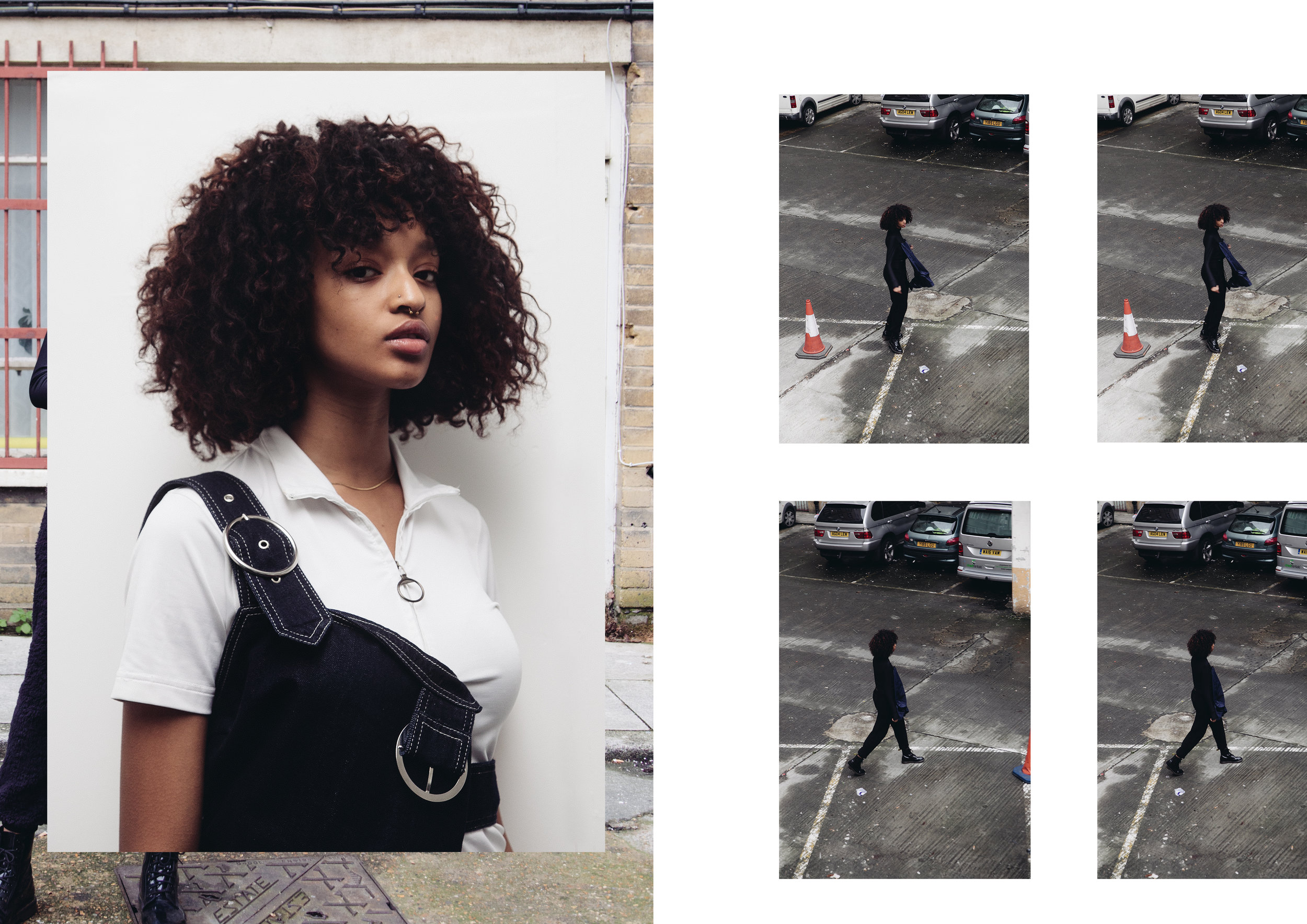 LEFT model wears  KAAN AMJAD ,  PRADA ,  TOPSHOP BOUTIQUE  RIGHT model wears  NIKE ,  COTTWEILER