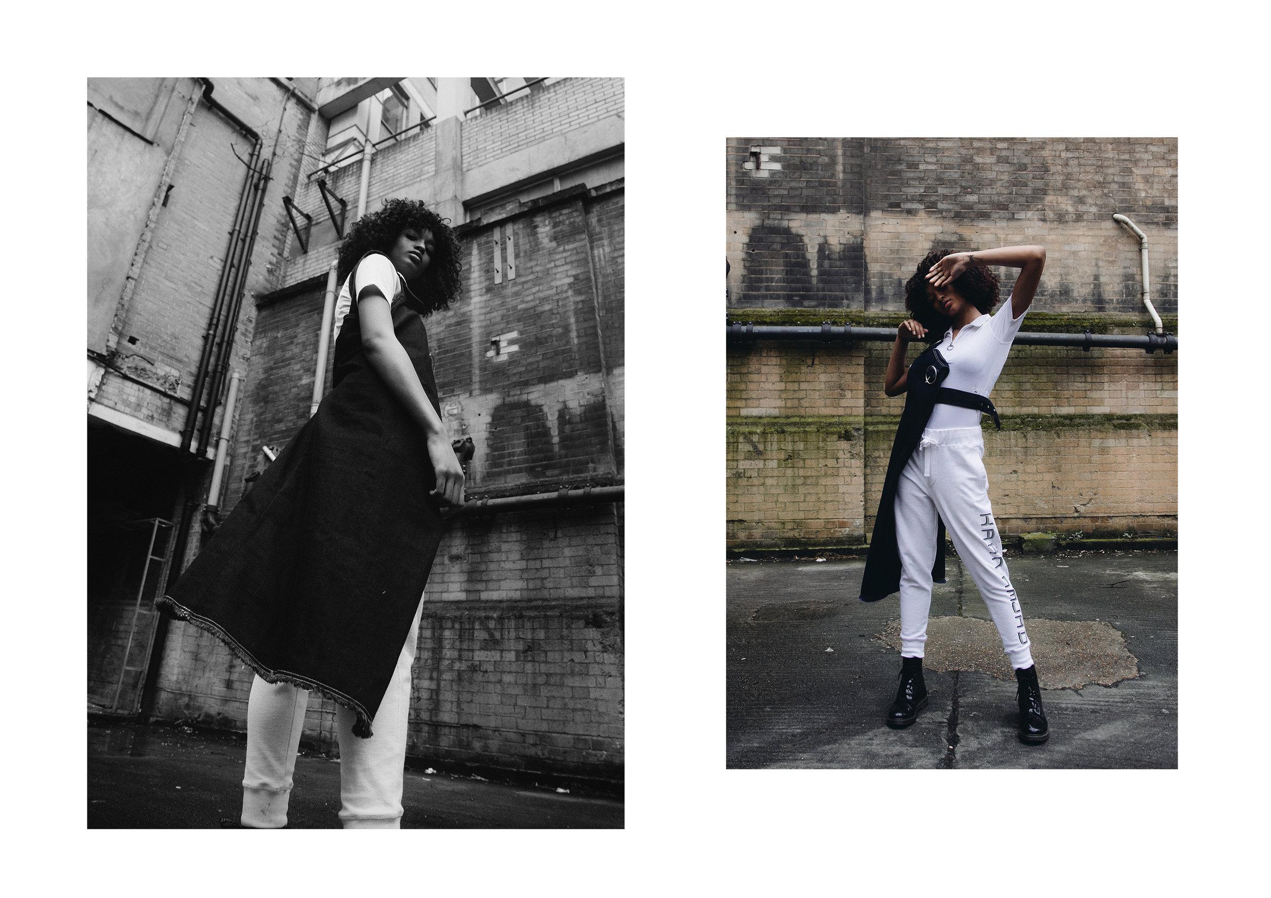model wears  KAAN AMJAD , PRADA ,  TOPSHOP BOUTIQUE