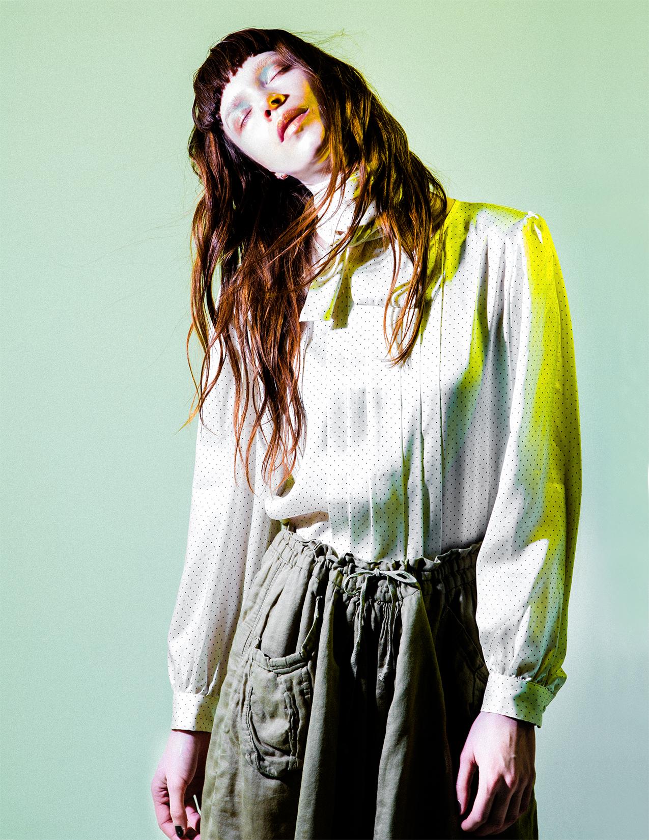 top  PIERRE BALMAIN , trousers  ISABEL MARANT ETOILE ,