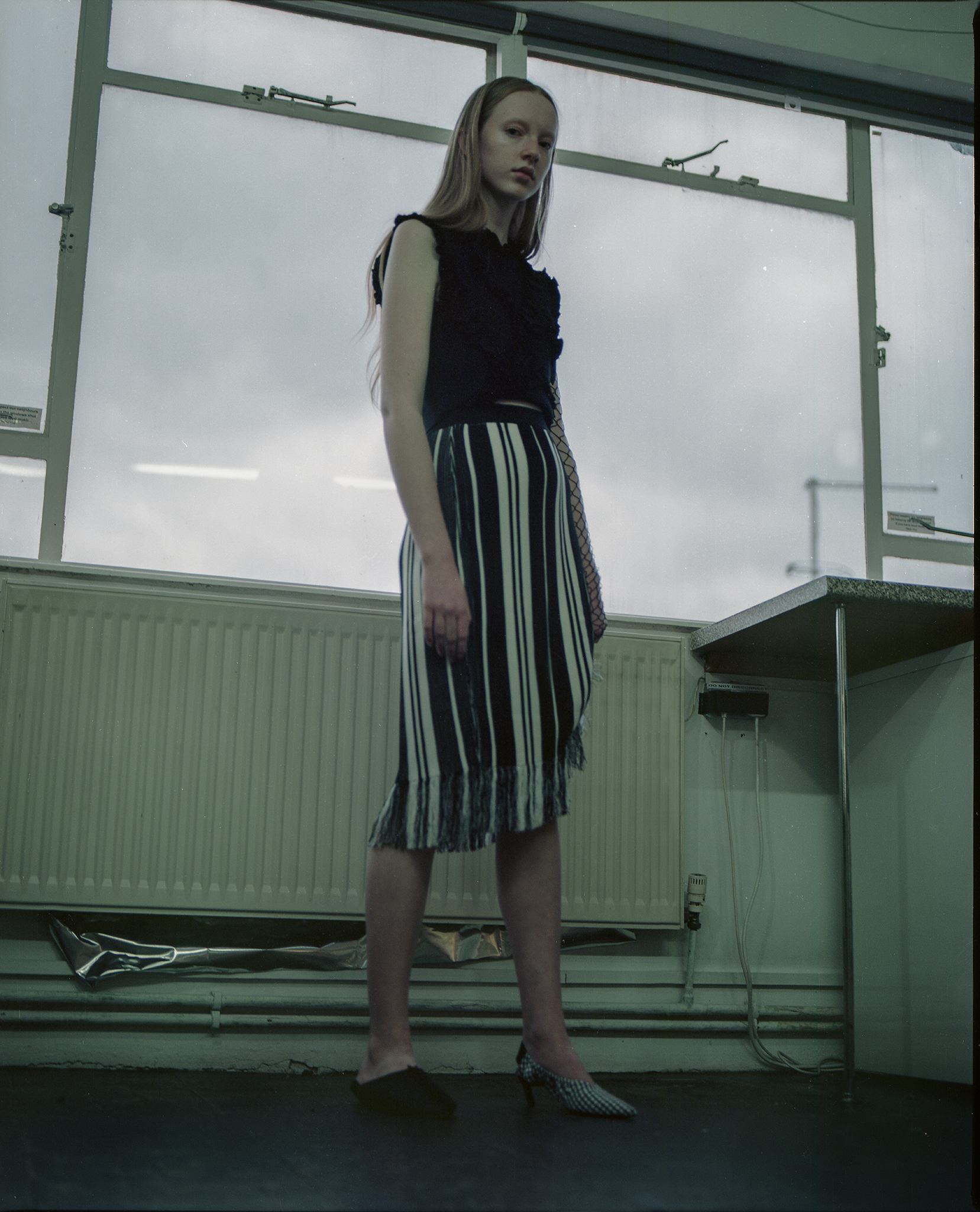 top + shoes ZARA, skirt & OTHER STORIES