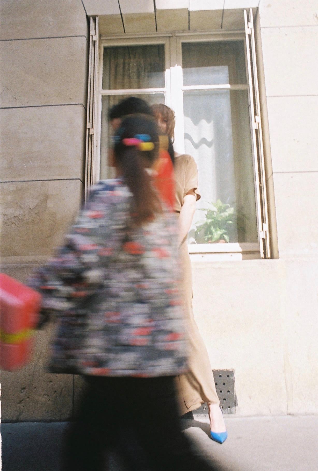 dress  MAISON DORIS , boots  REPETTO , bag  NINA RICCI  VINTAGE