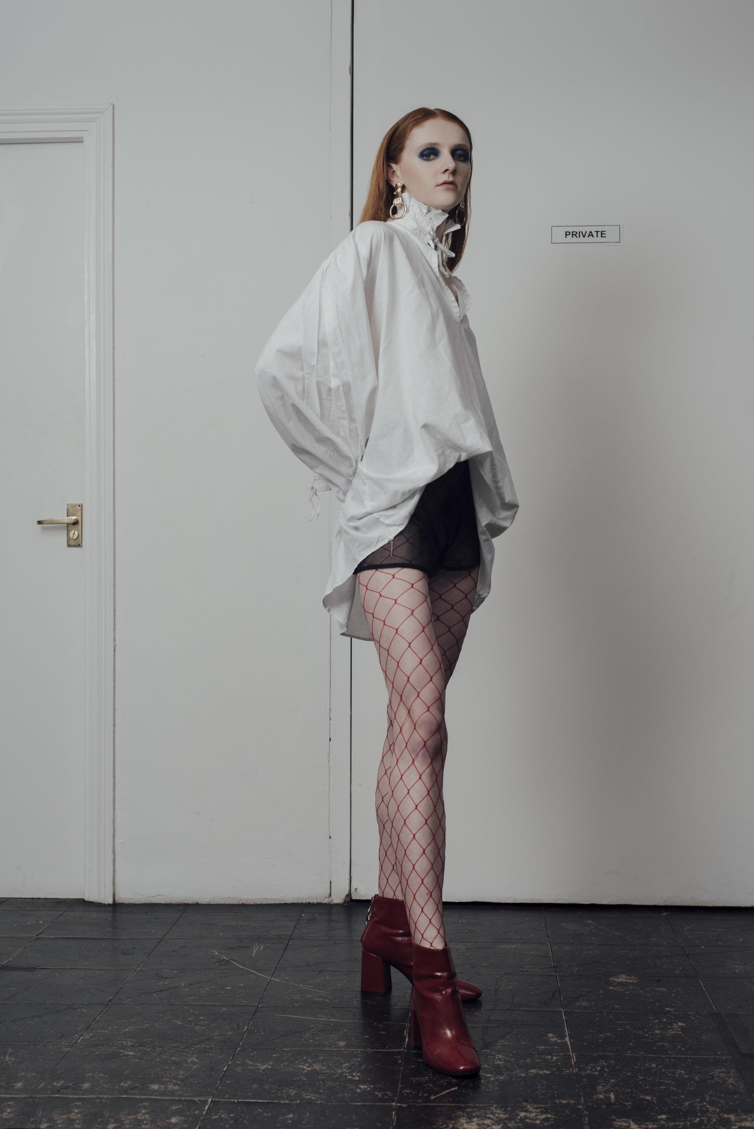 shirt COSTUME STUDIO,,shorts STYLIST'S OWN, boots STYLIST'S OWN