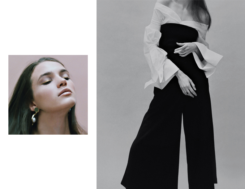 white blouse JACQUEMUS, trousers ZARA