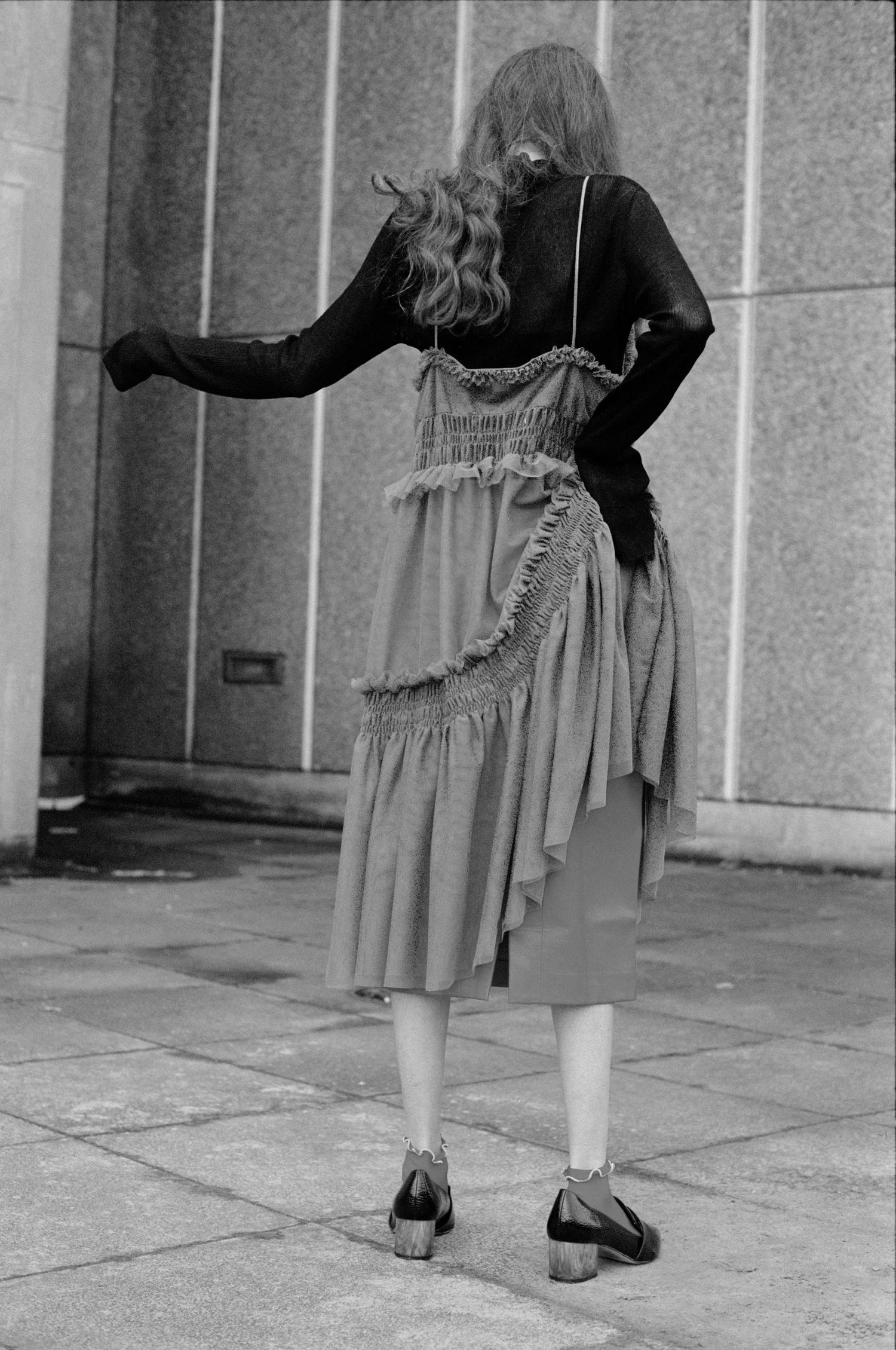 turtleneck COS, dress H&M, skirt ZARA