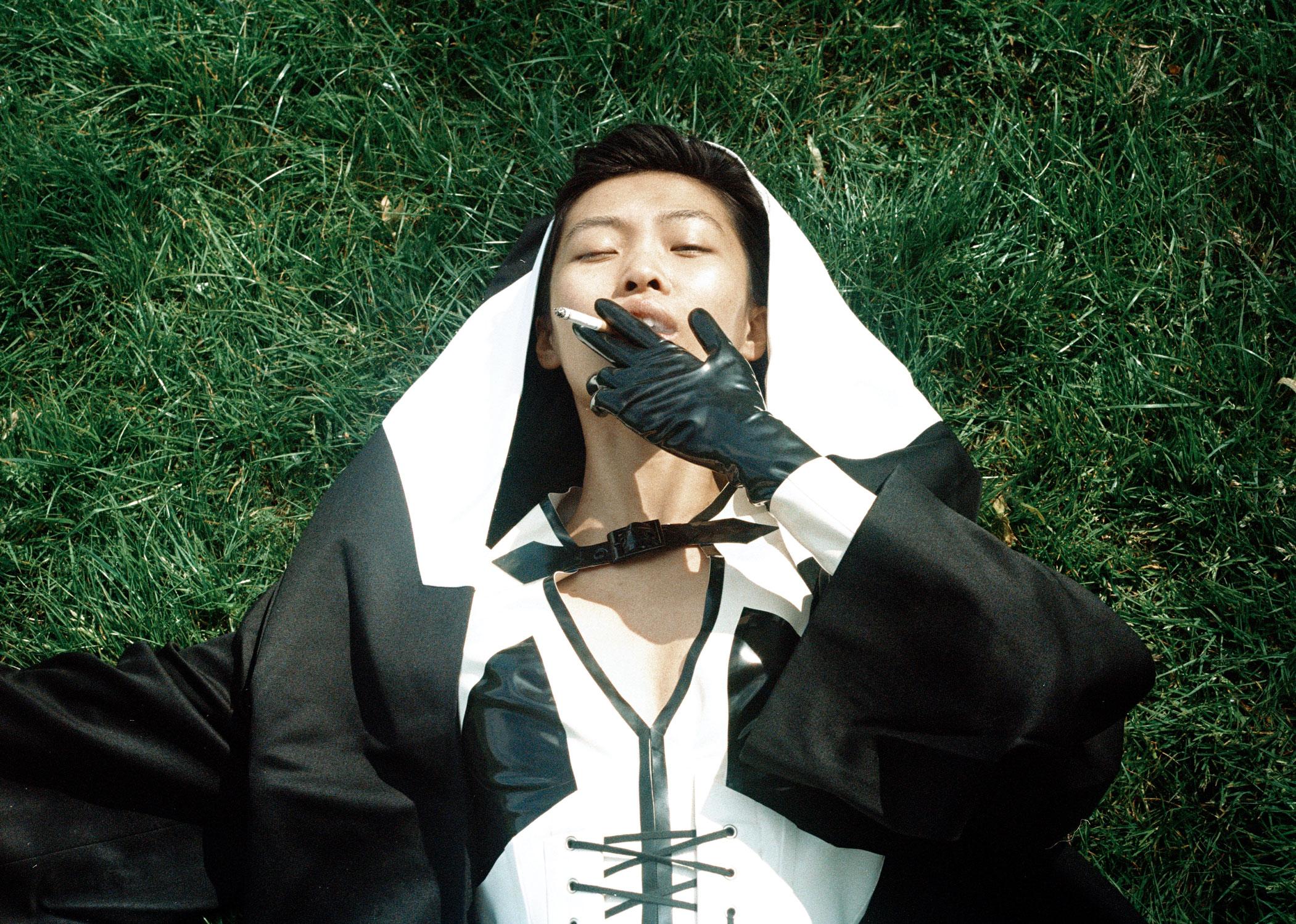 gloves + dress +corset  HOUSE OF HARLOT ,capes  SJCHO , boots MILANO
