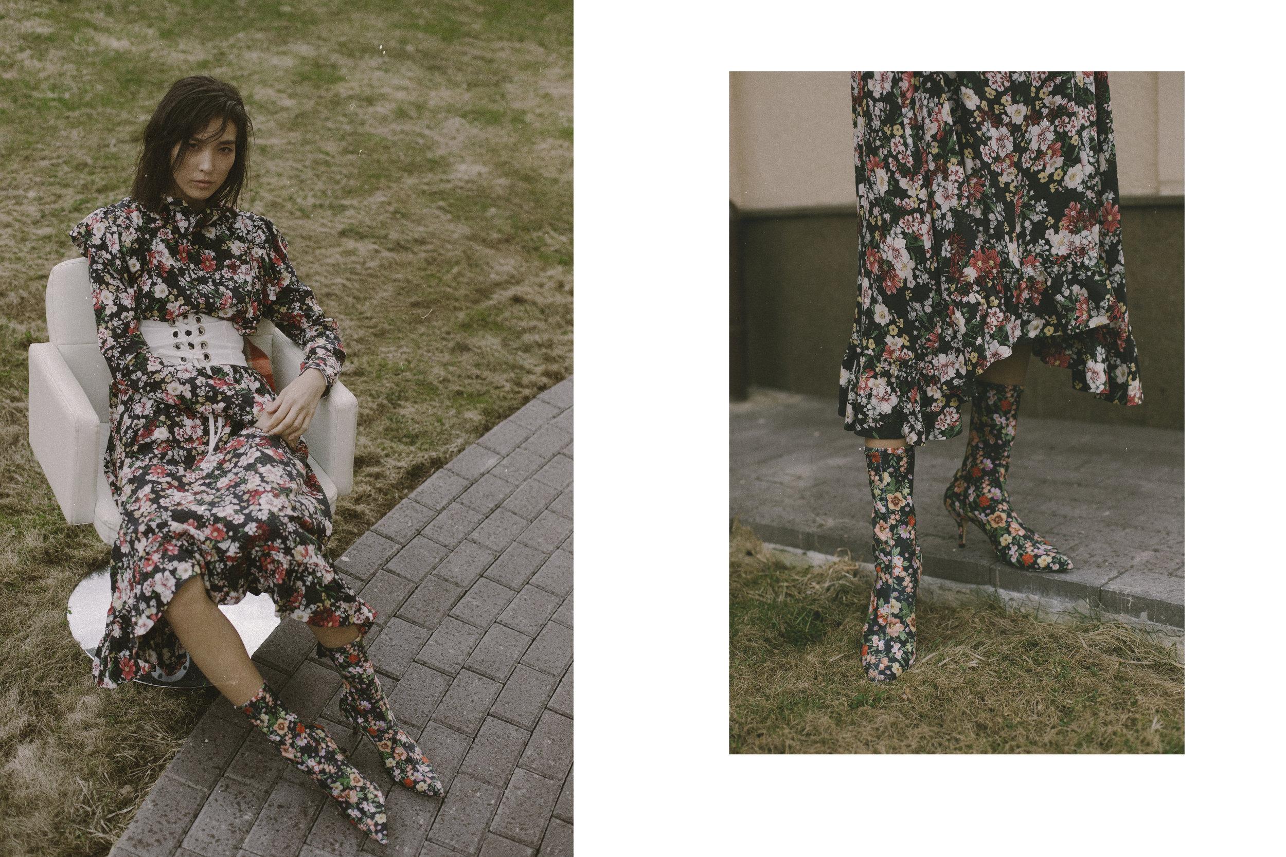Dress Ivan, Boots and belt Zara
