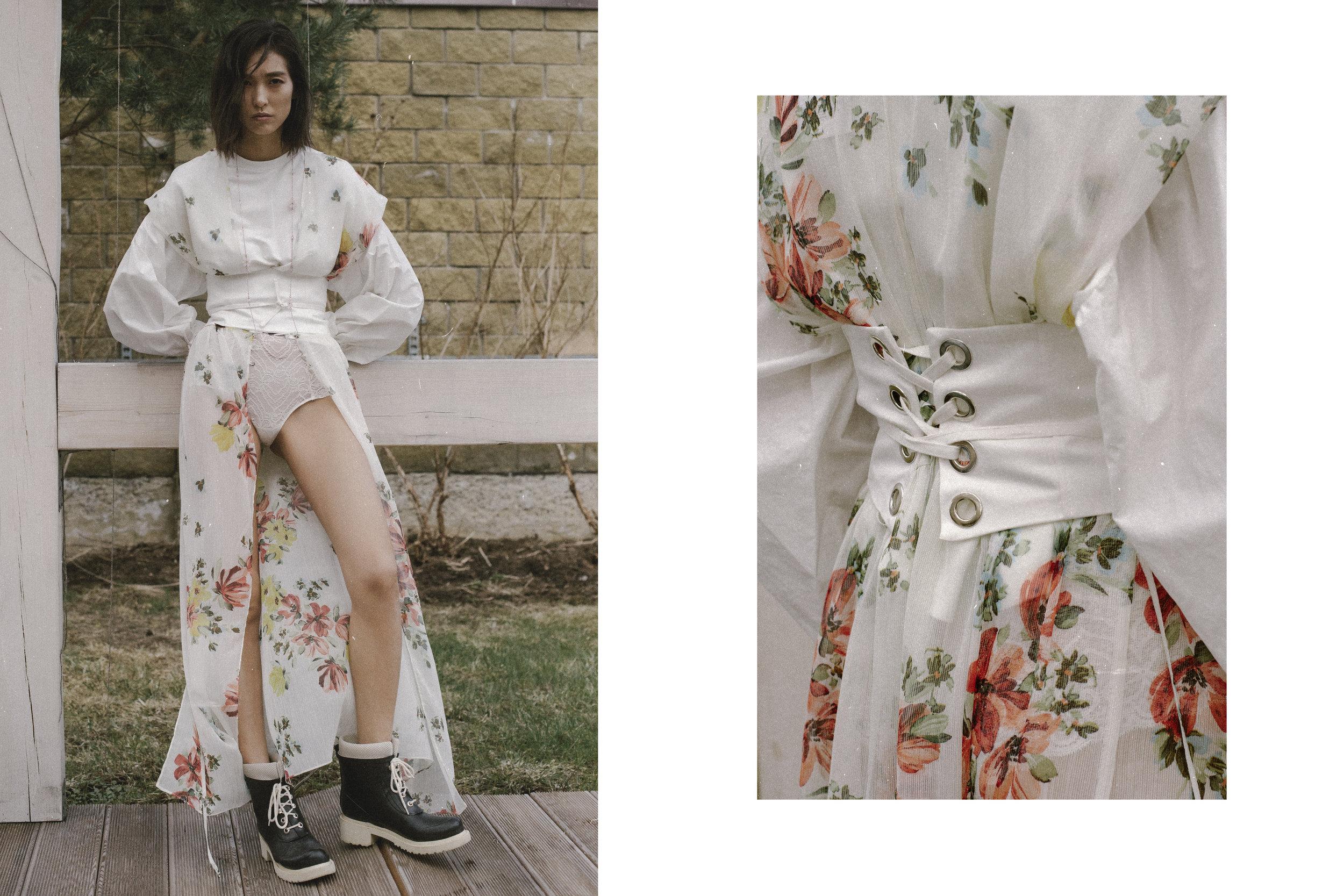 Top, dress, belt Zara, Cowards Intimissimi, Shoes Ilse Jacobsen, necklace of vintage, sandals Zara
