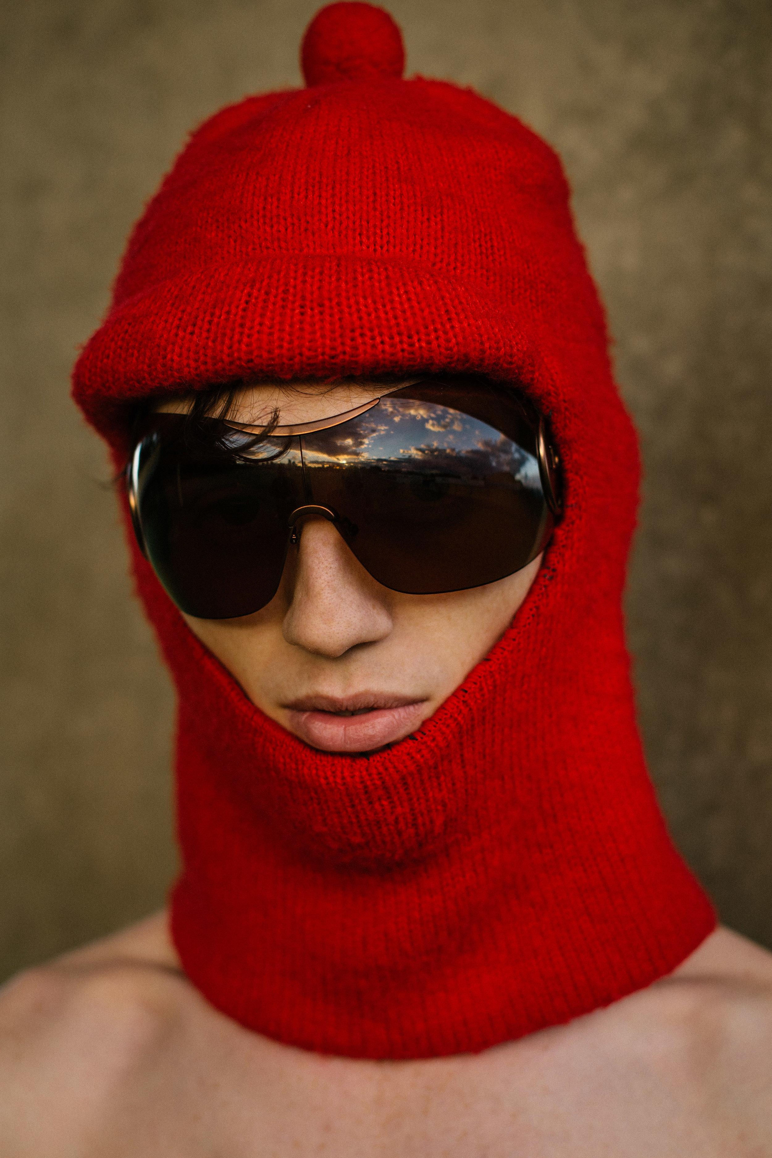 ski mask - stylist own, glasses DIOR
