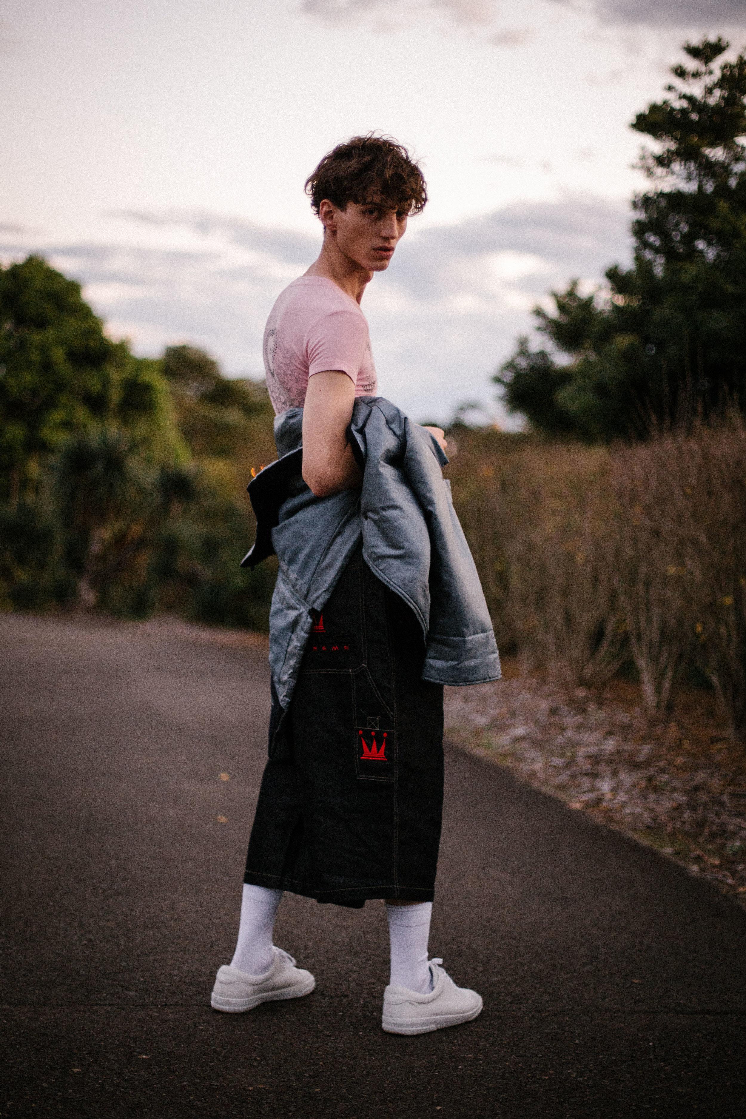 shirt Dior, jacket Dior, pants Dada, shoes A.P.C .