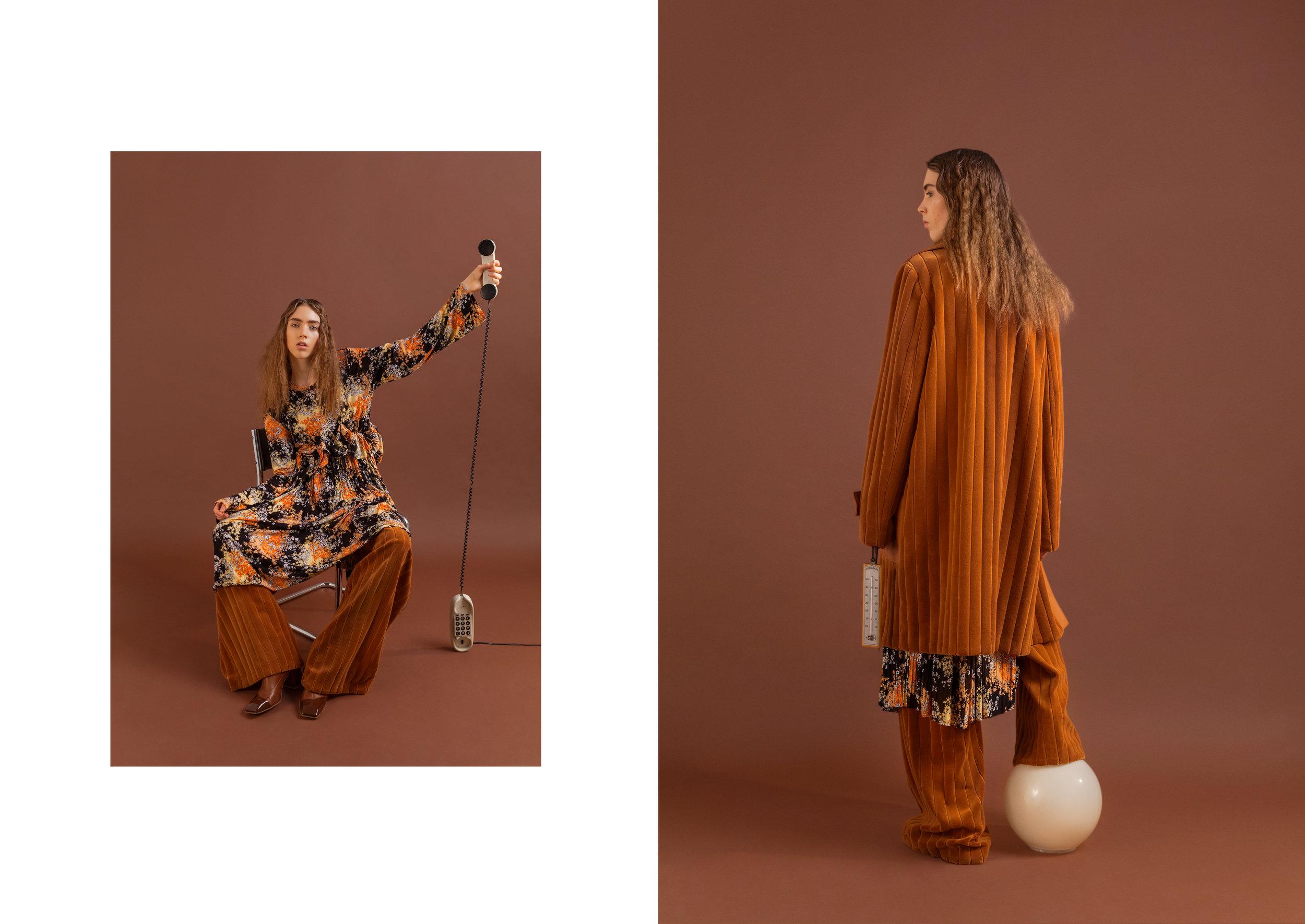 coat + pants   Cristiano Burani, dress Angelos Frentzos, boots  Ssheena