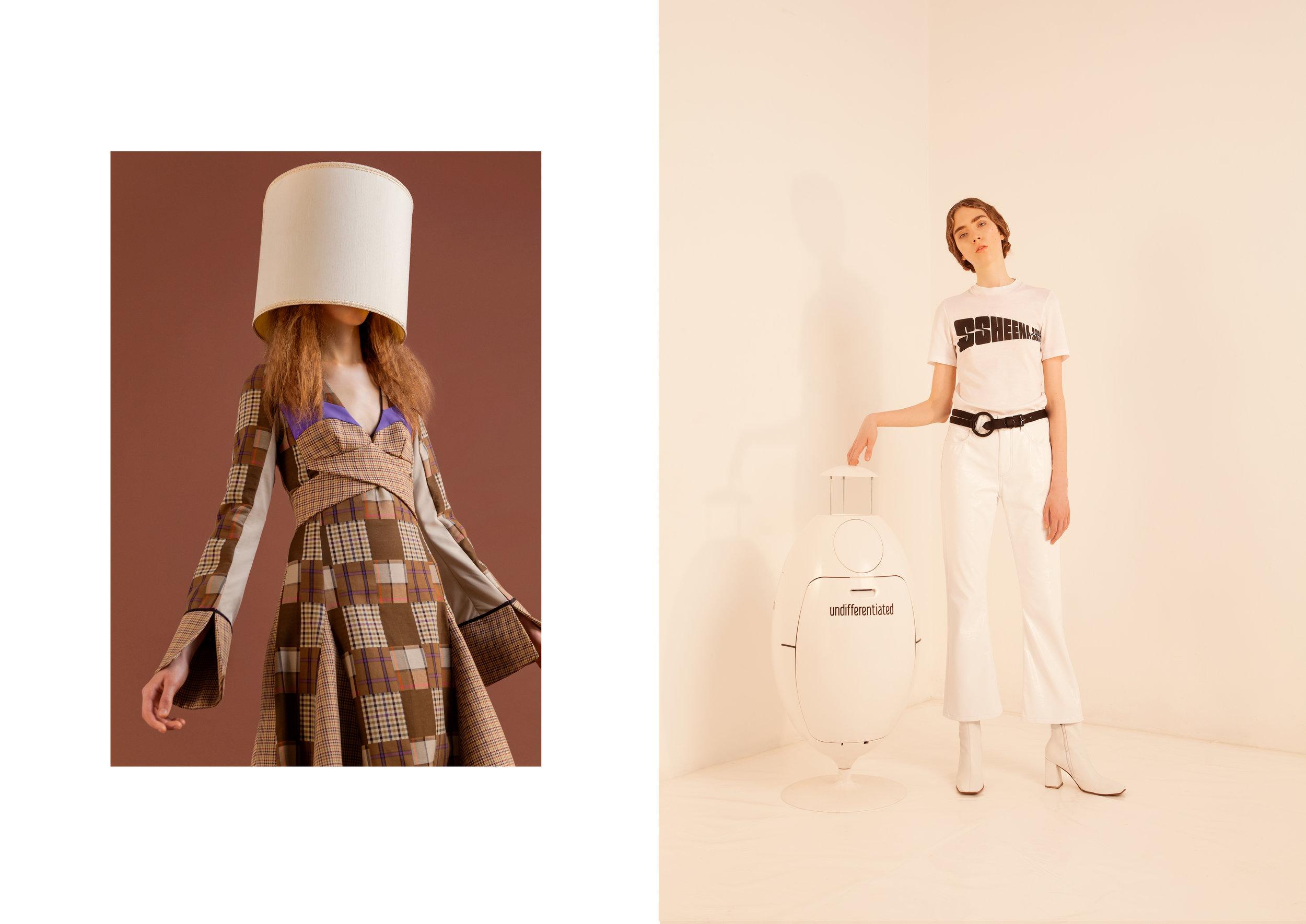 LEFT dress   Ssheena , right t-shirt + pants + boots   Ssheena , belt   Ralph Lauren