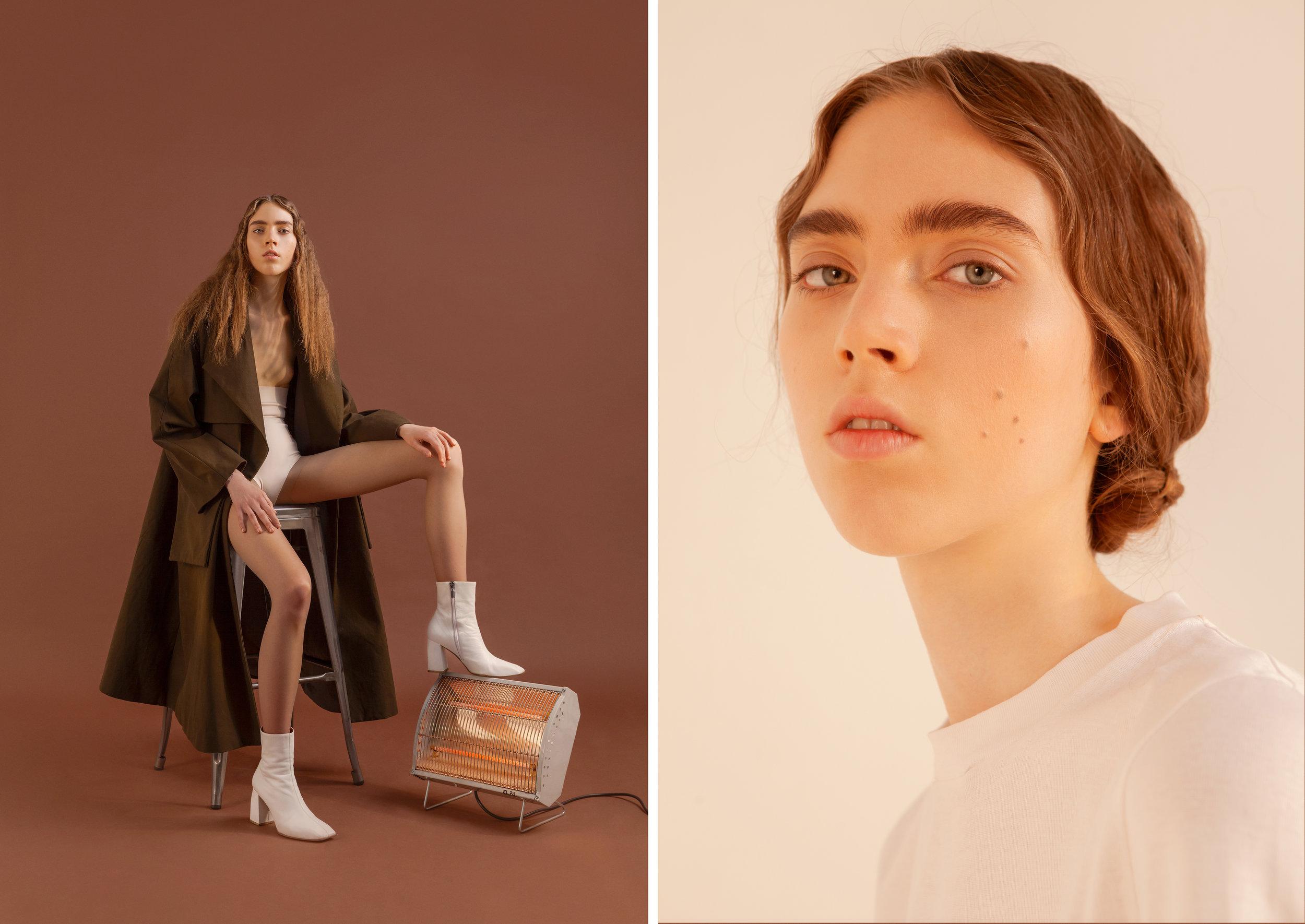 LEFt coat   Twins Florence,  underwear  Stylist's own, boots    Ssheena , RIGHT t-shirt + pants + boots    Ssheena , belt   Ralph Lauren