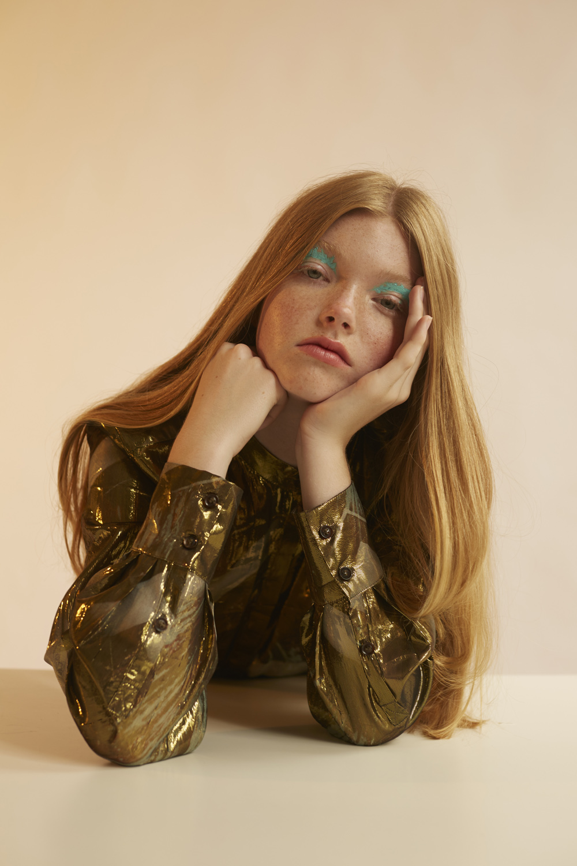 Gold shirt H&M Studio