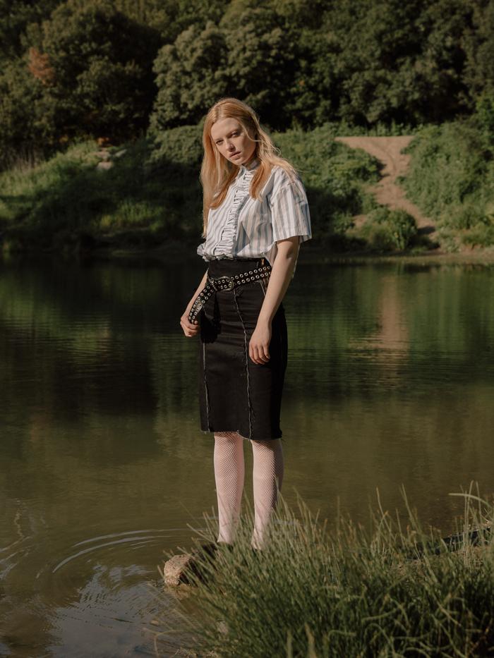 Shirt by Sonia Rikyel,  Skirt by Comme des  Garçons for Notenom