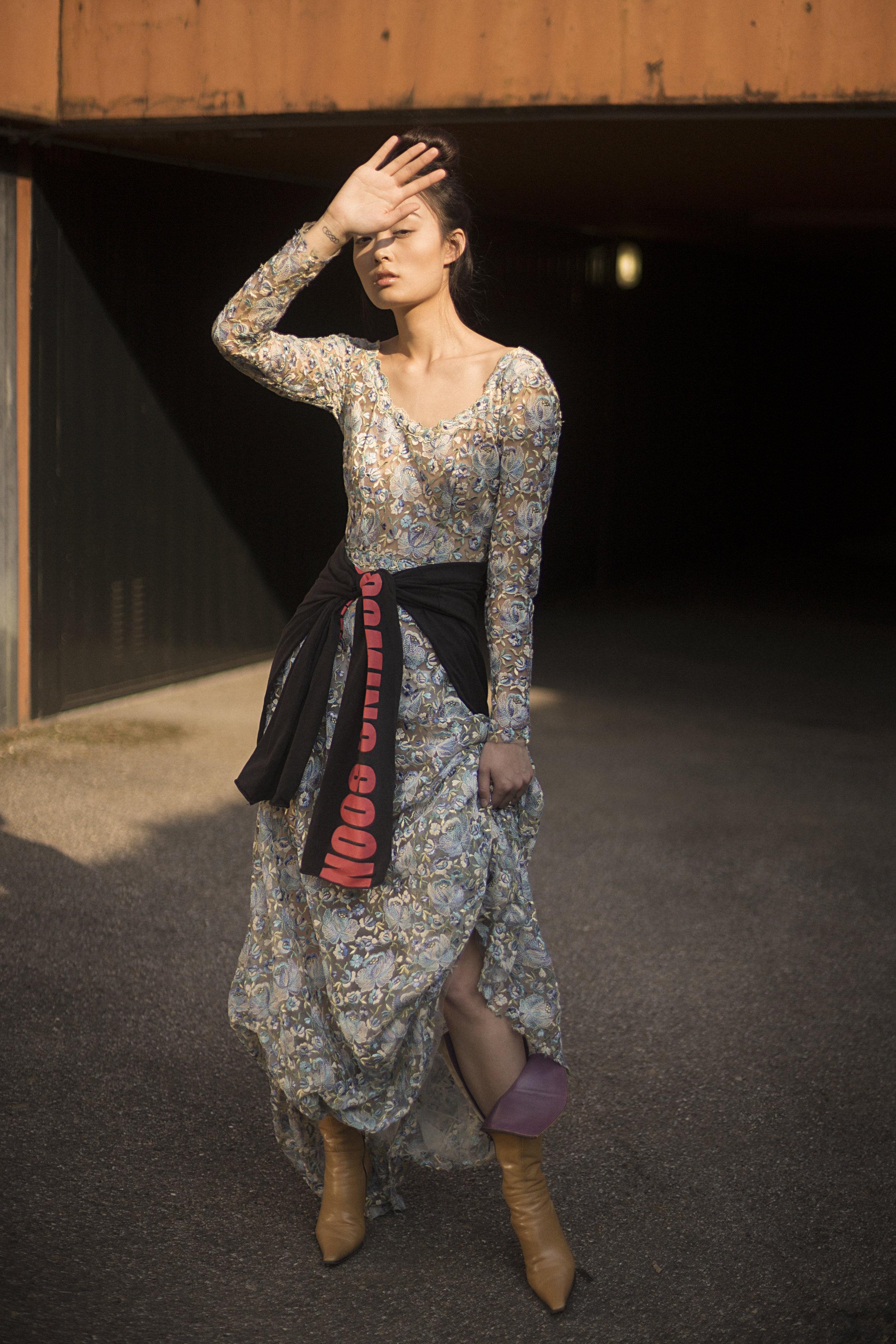 dress LUISA BECCARIA,hoodie VETEMENTS,