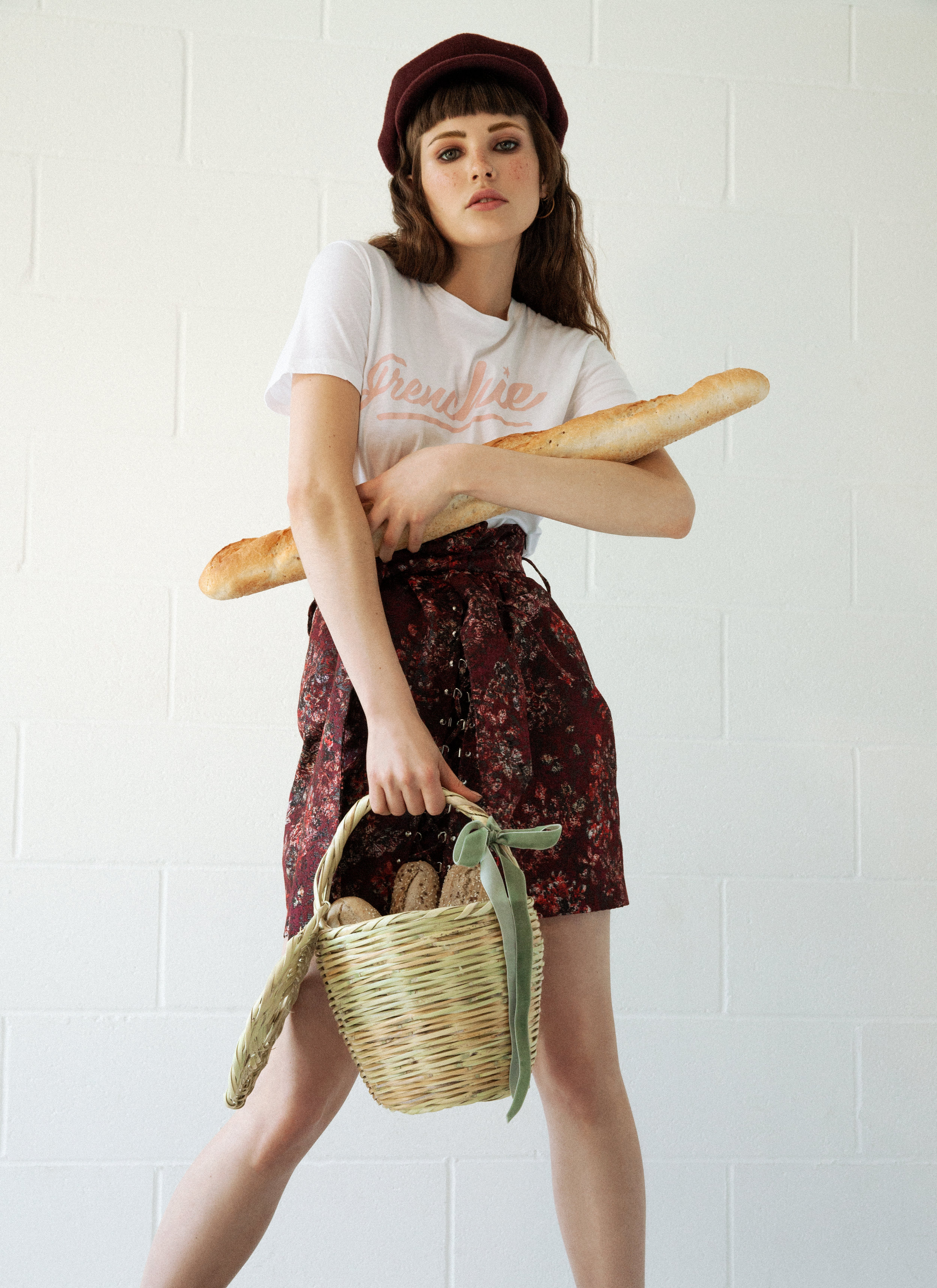 Skirt: Iro at Fenwick Top:Etre Cecile Hat: Cenci Vintage Shoes: Ouigal Basket: Blooming Dreamer Earrings: The Boyscouts