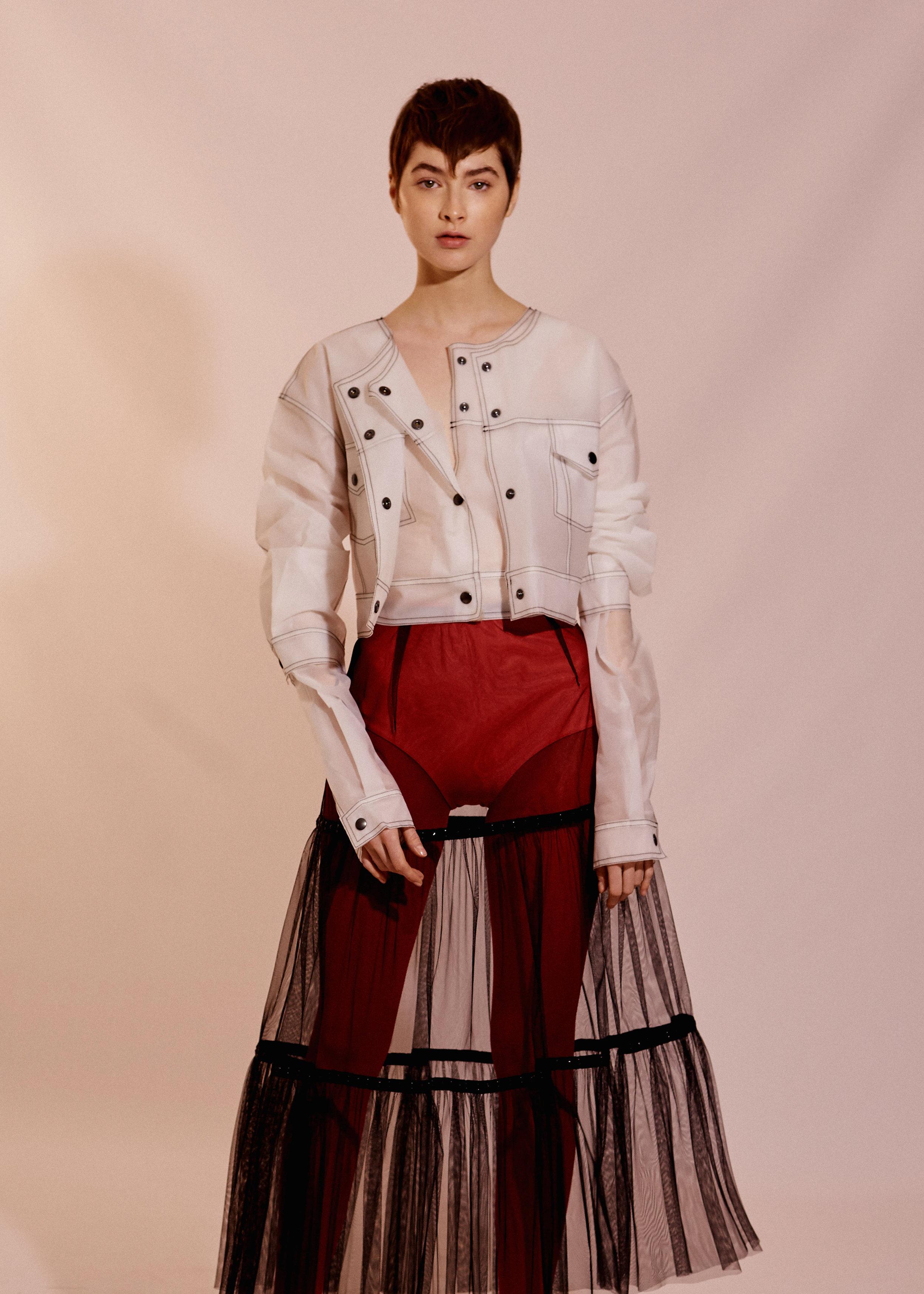 Jacket MARIOS Skirt MARC JACOBS Tights COS Panties ANDRÉS SARDA Shoes ESSENTIEL