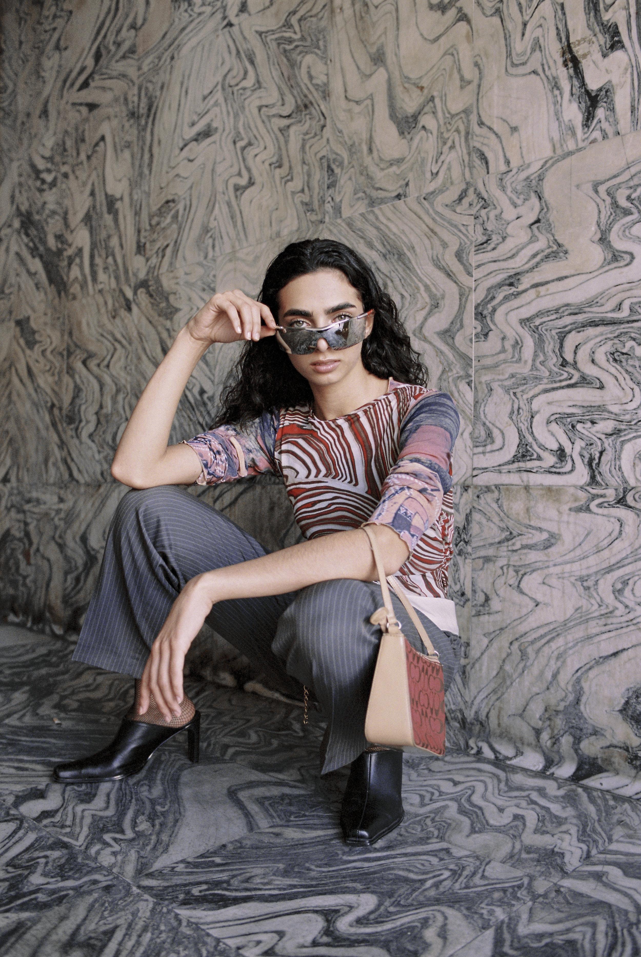 sunglasses Prada, top Mexx, bag Coach