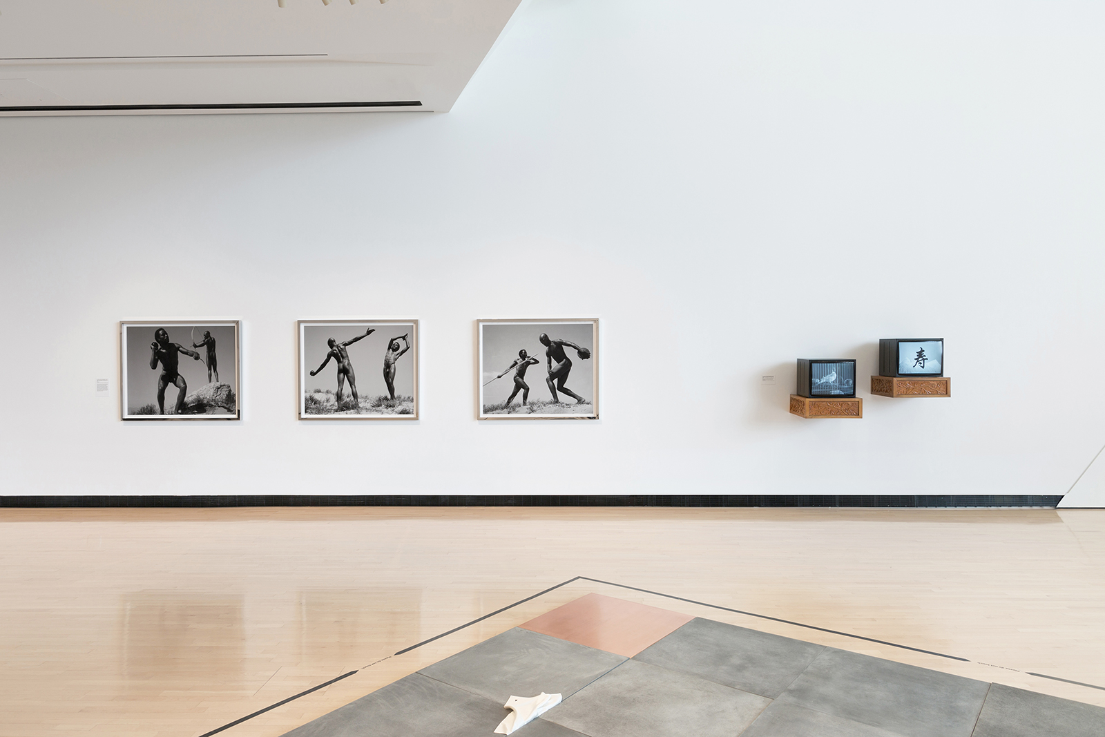 Two videos, three photographs, several related masterpieces, and American art