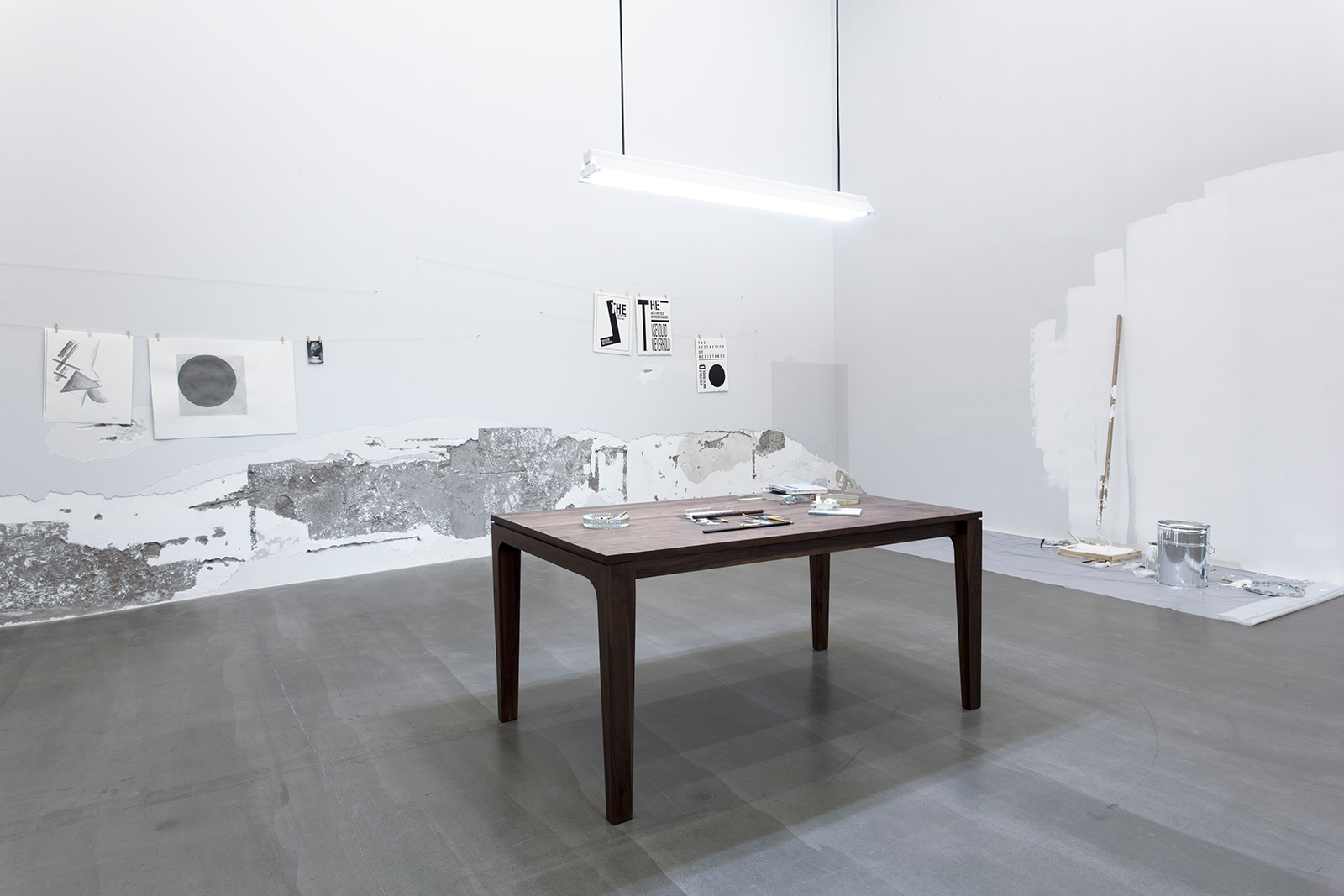 The Aesthetics of Resistance , 2015. Installation view, Galerie Urs Meile, Beijing, China, 2015.