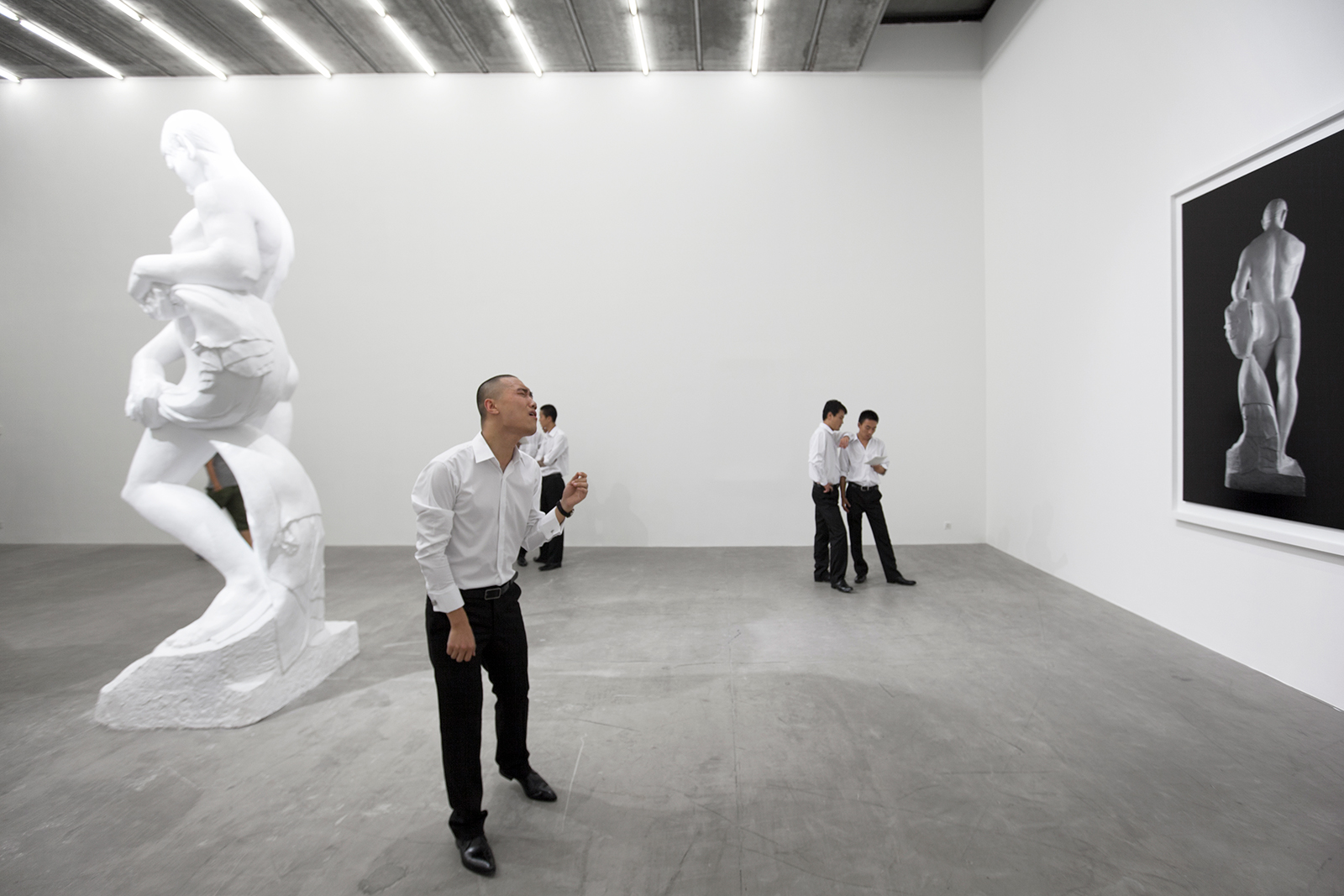 Realism , 2011. Performance view, Galerie Urs Meile, Beijing, China, 2011.