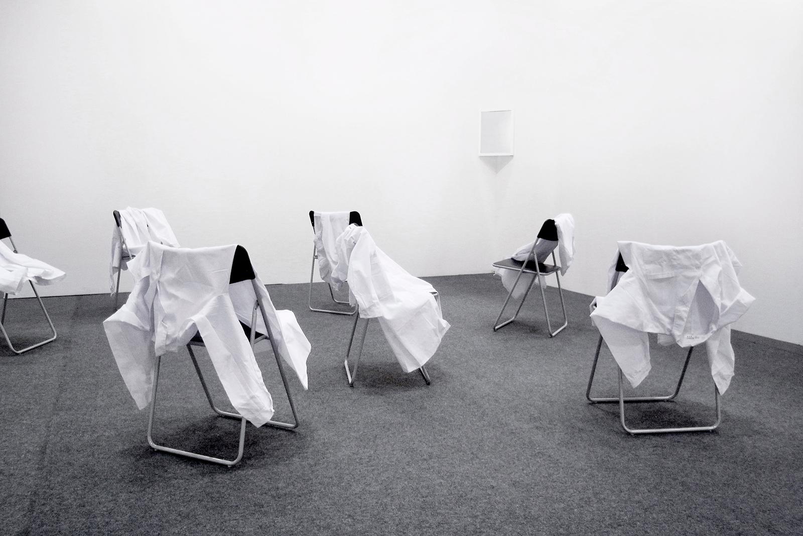 He Must Die , 2010. Installation view, KDJ Convention Center, Gwangju, South Korea, 2010.