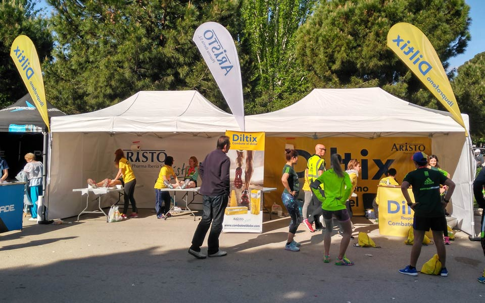 Stand Diltix - El Colegio Profesional de Fisioterapeutas de la Comunidad de Madrid en acción.