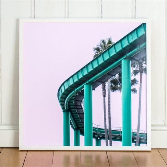 Throwback to my road trip through California. 🌴☀️ Last prints are available via Link in Bio. 💋  #santacruz #california #print