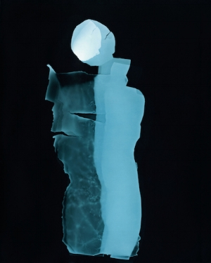 The Blue Woman VII Photogram toned in iron, 2015 ©Claire Gilliam