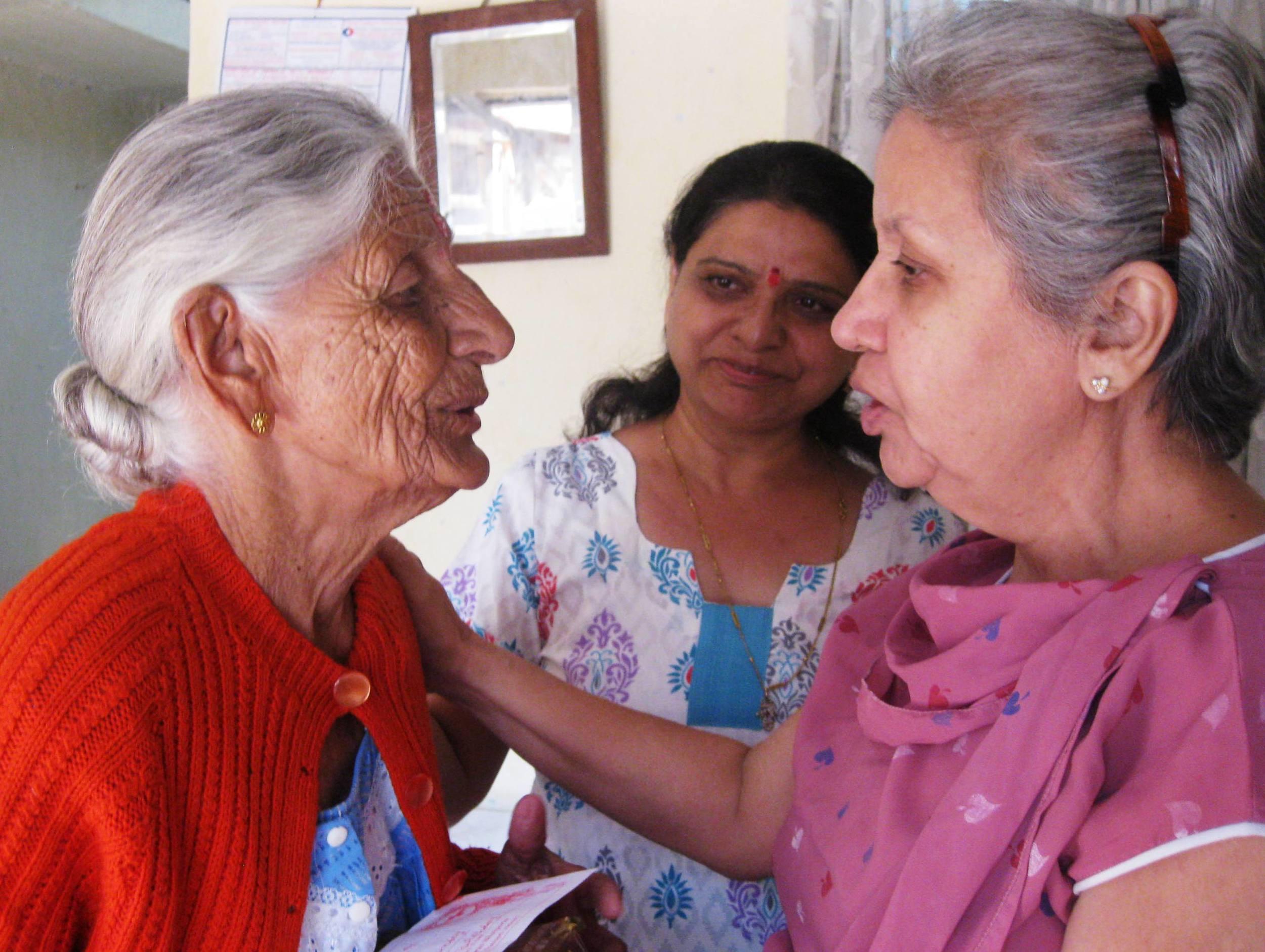 Three generations of Parsi women.
