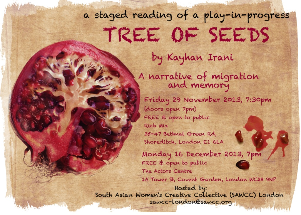 The postcard for Tree of Seeds