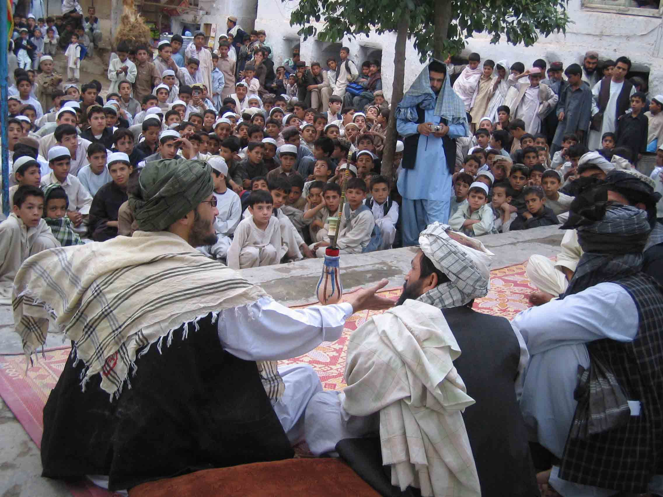 Performance at a school in Kandahar.
