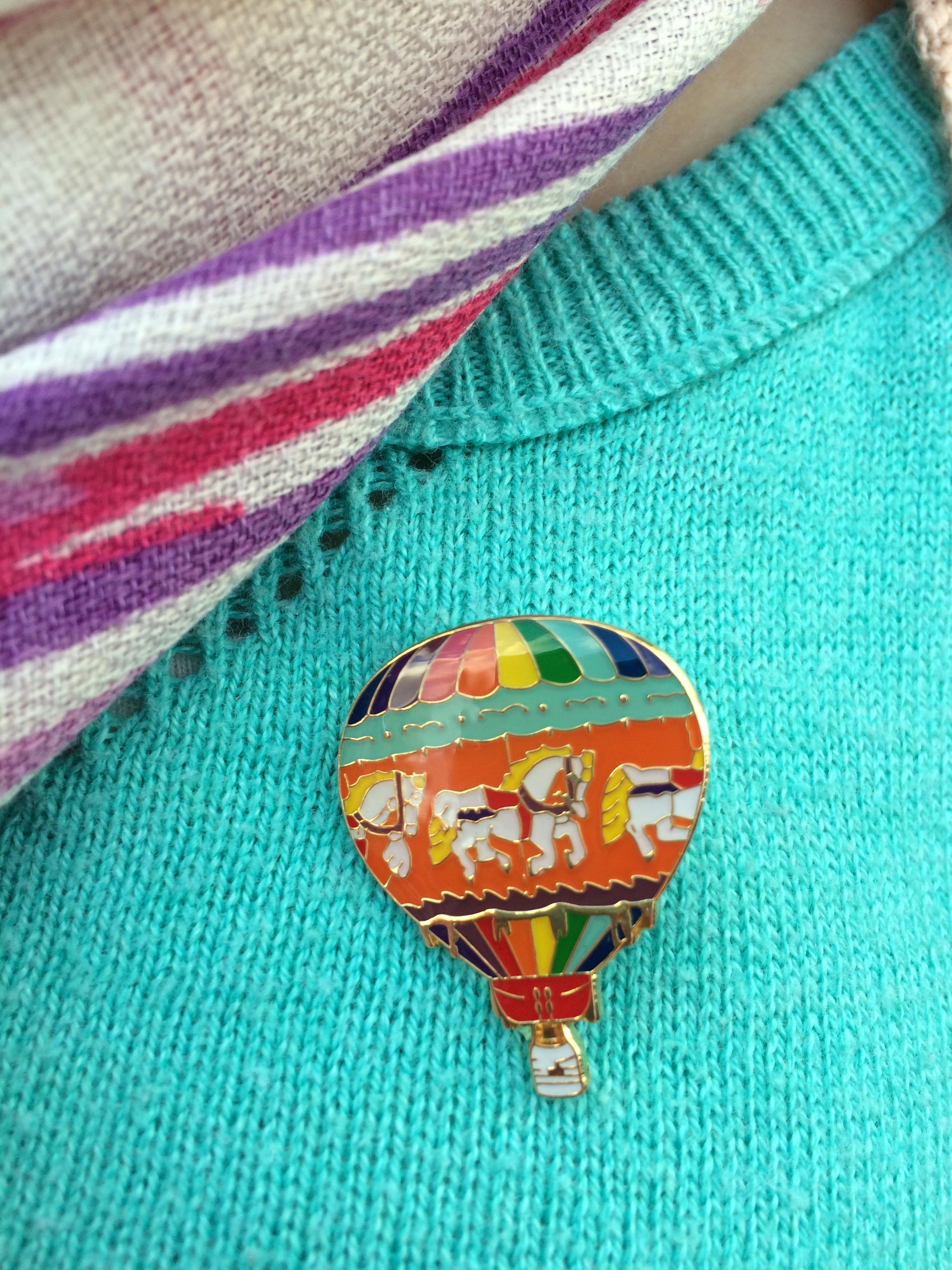 My carousel balloon pin