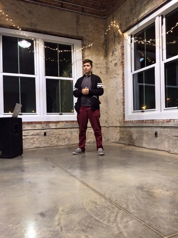 Benjamin Babineaux speaking at La Fete du Fem