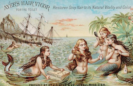 vintagegal :       Ayer's Hair Vigor advertisement c. 1870-1890