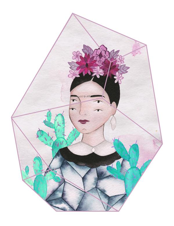 estherapreda :     A four eyed Frida Kahlo