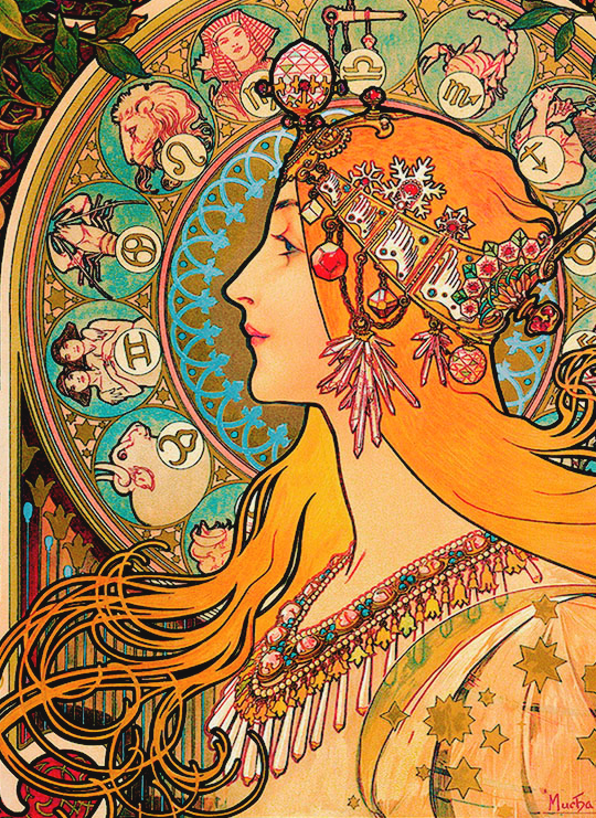 vintagegal :      Alphonse Mucha - Zodiac, 1896 ( via )