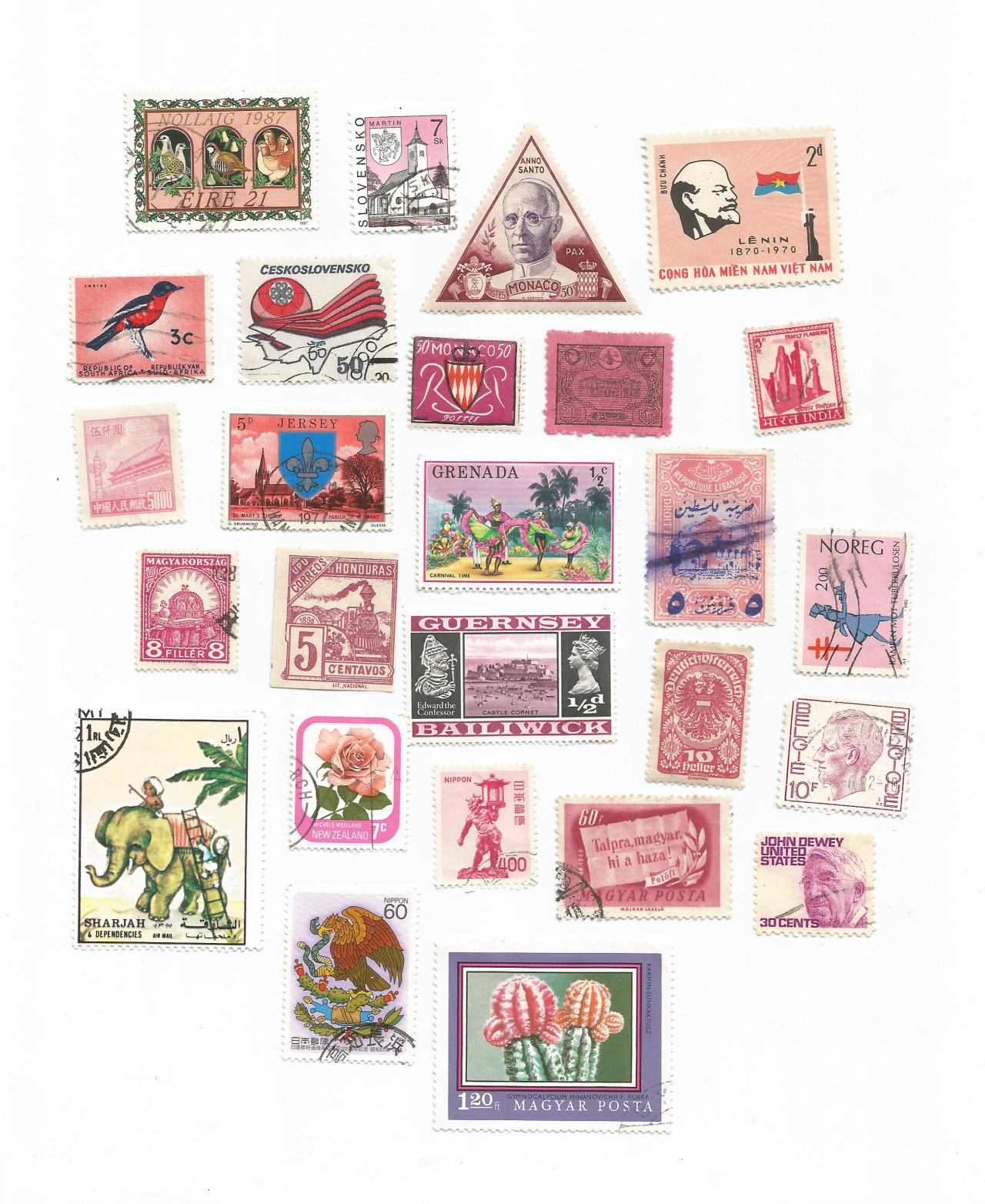 miscolleciones :   pink stamps