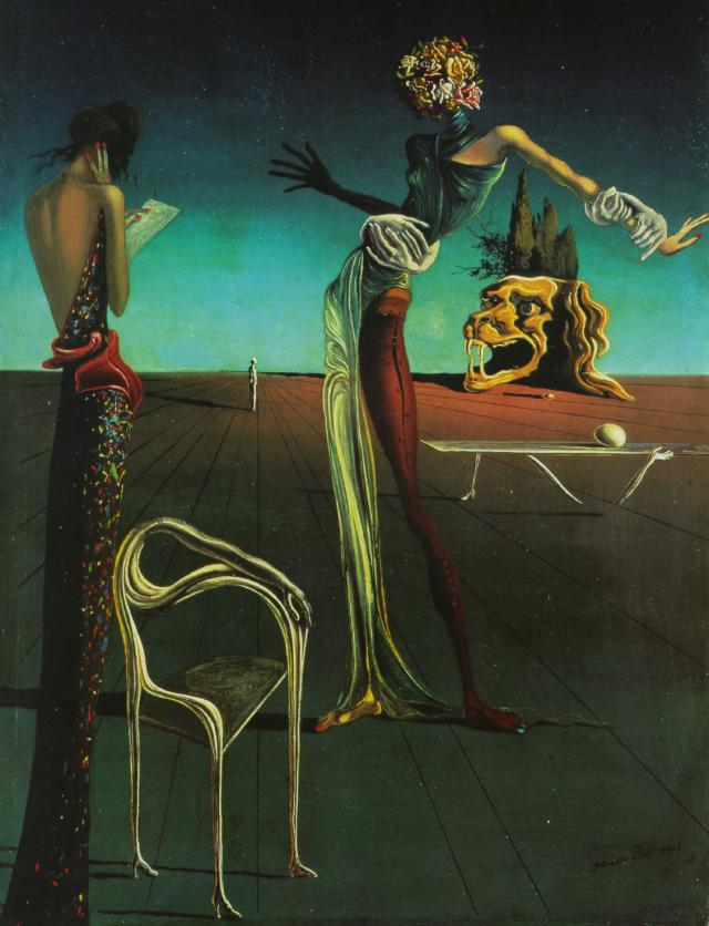 importantmodernart :     Woman with a Head of Roses, 1935  Salvador Dalí