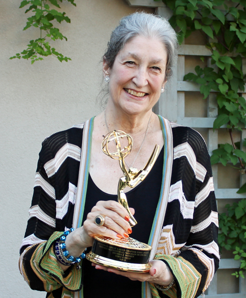 Jane Fortune with her Emmy Award (2013)