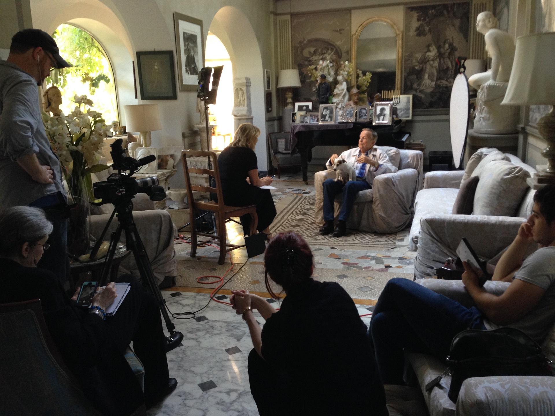 AWA on location at Franco Zeffirelli's villa in Rome
