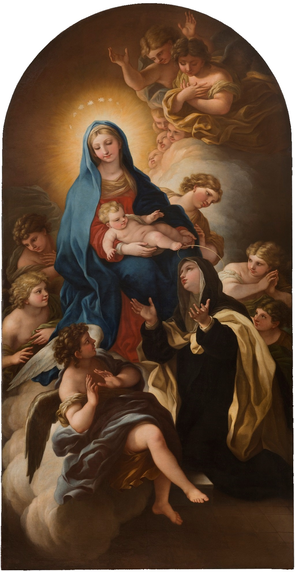La Vergine Maria Presenta Gesù Bambino a Santa Maria Maddalena de' Pazzi