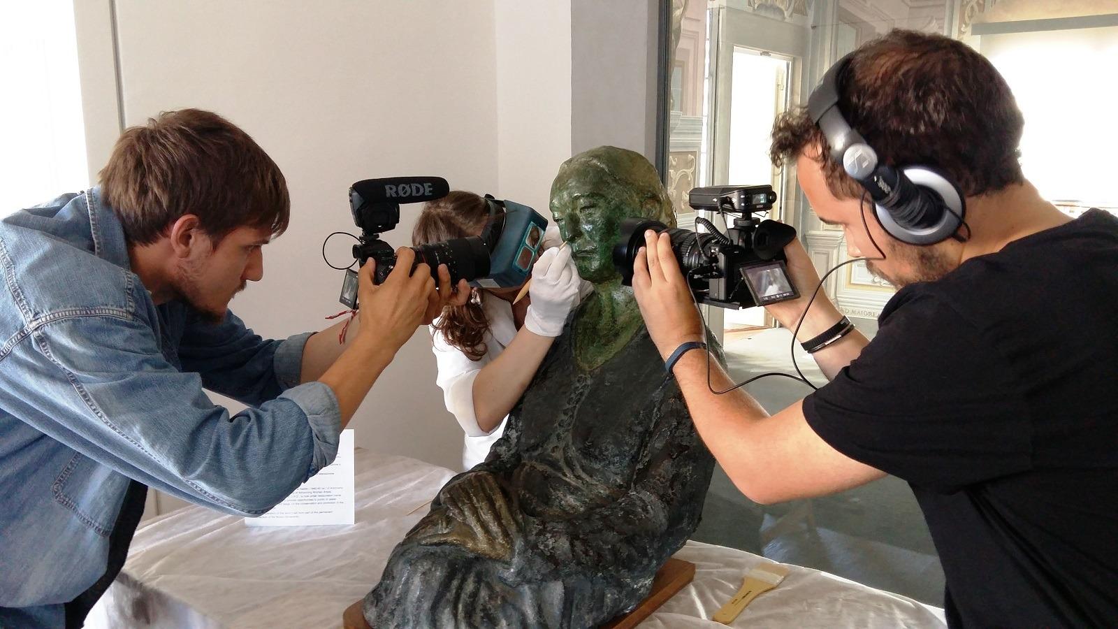 Mrs. Della Ragione captured by Natia Docufilm crew
