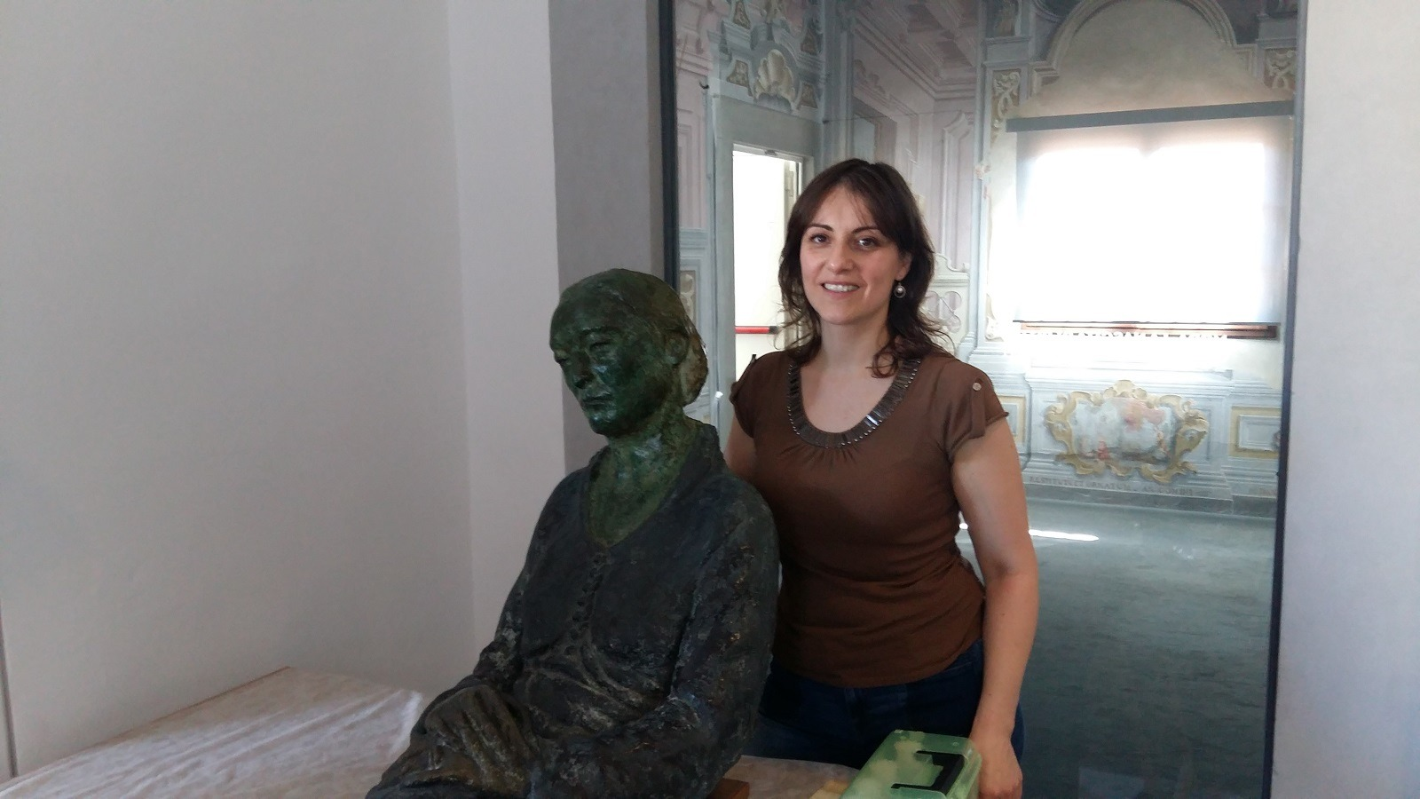 Conservator Merj Nesi on the eve of the sculpture's permanent museum exhibition