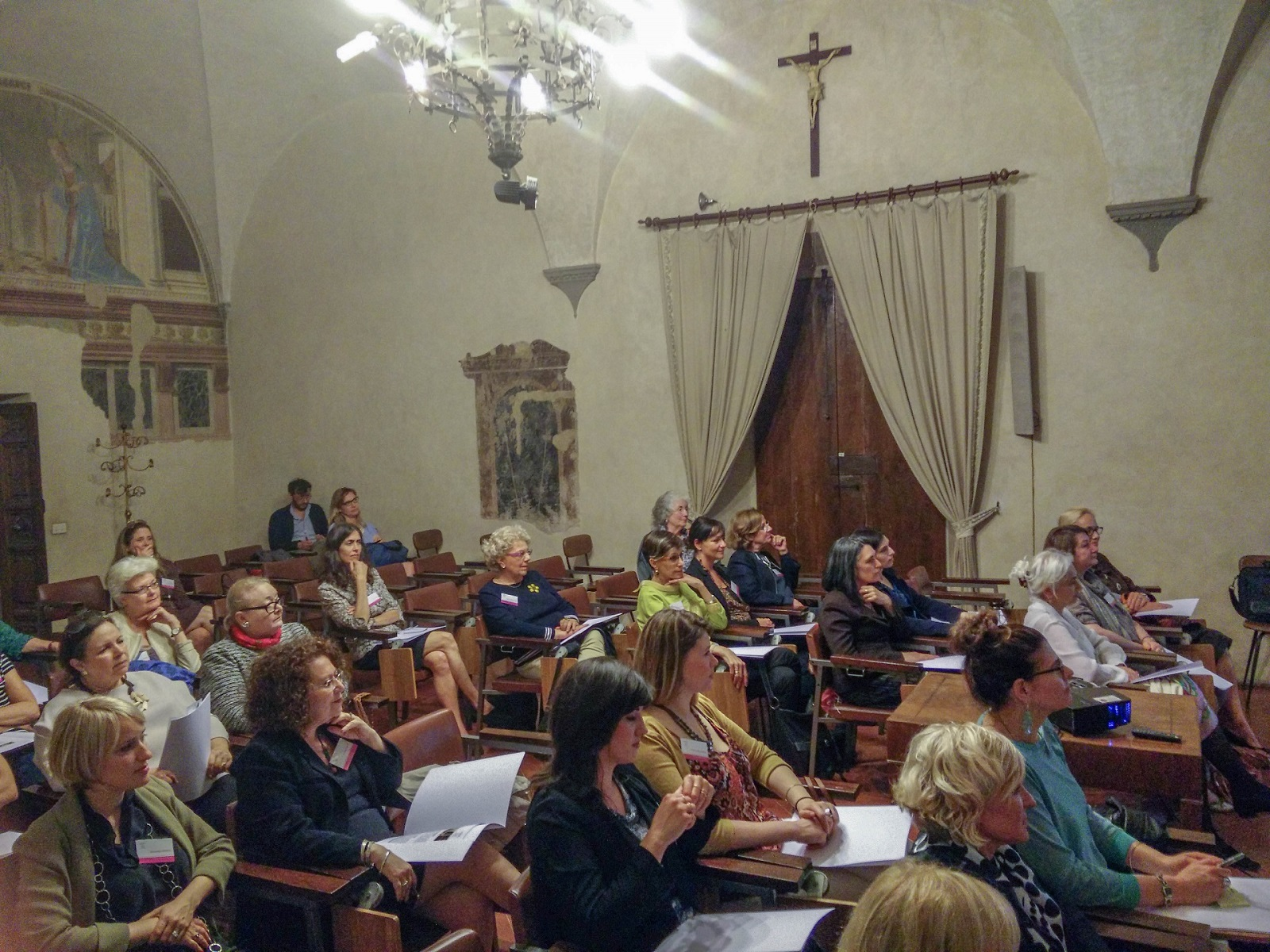 An advocacy meeting at Santissima Annunziata in Florence