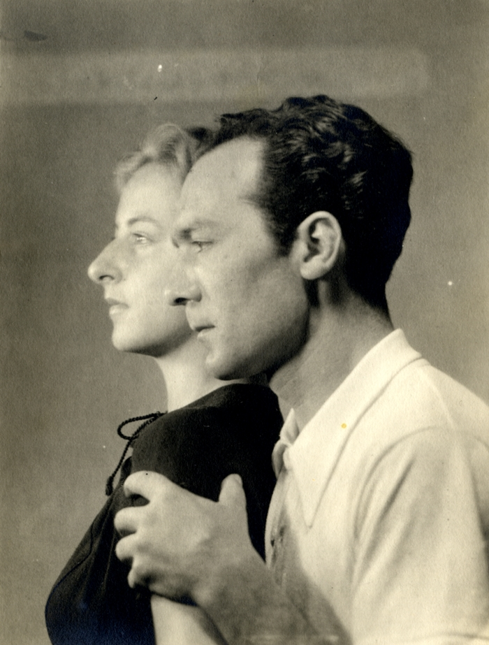 Painter Flavia Arlotta with her husband Giovanni Colacicchi