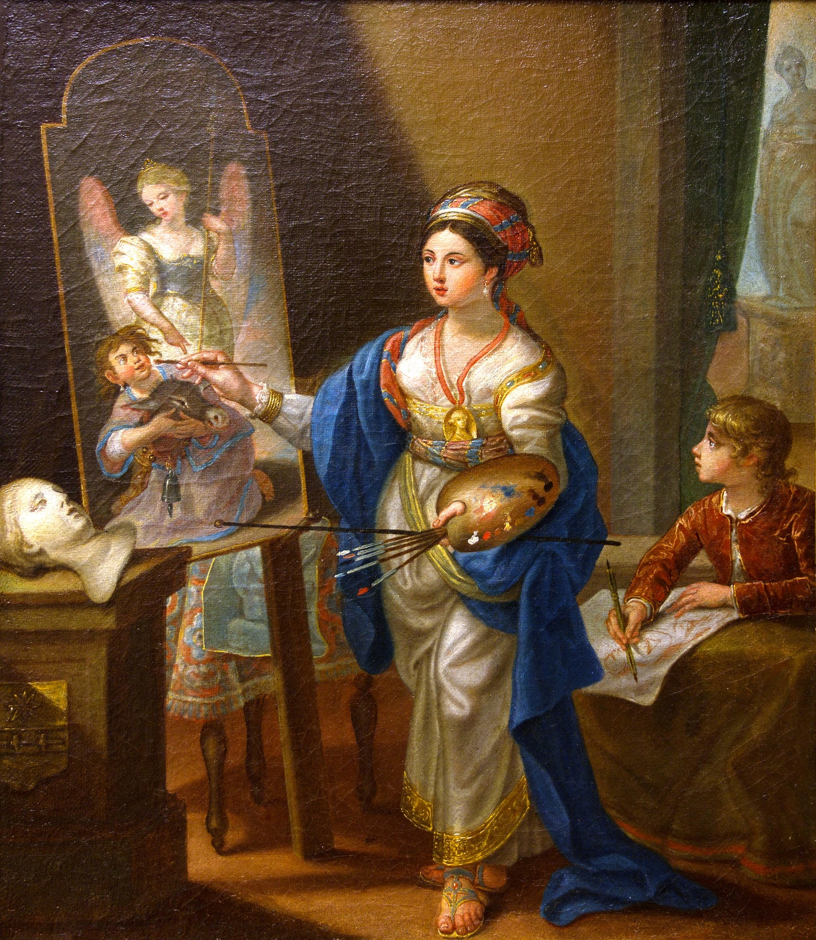Duclos' lesser-known Uffizi self portrait, attributed by Giovanna Giusti